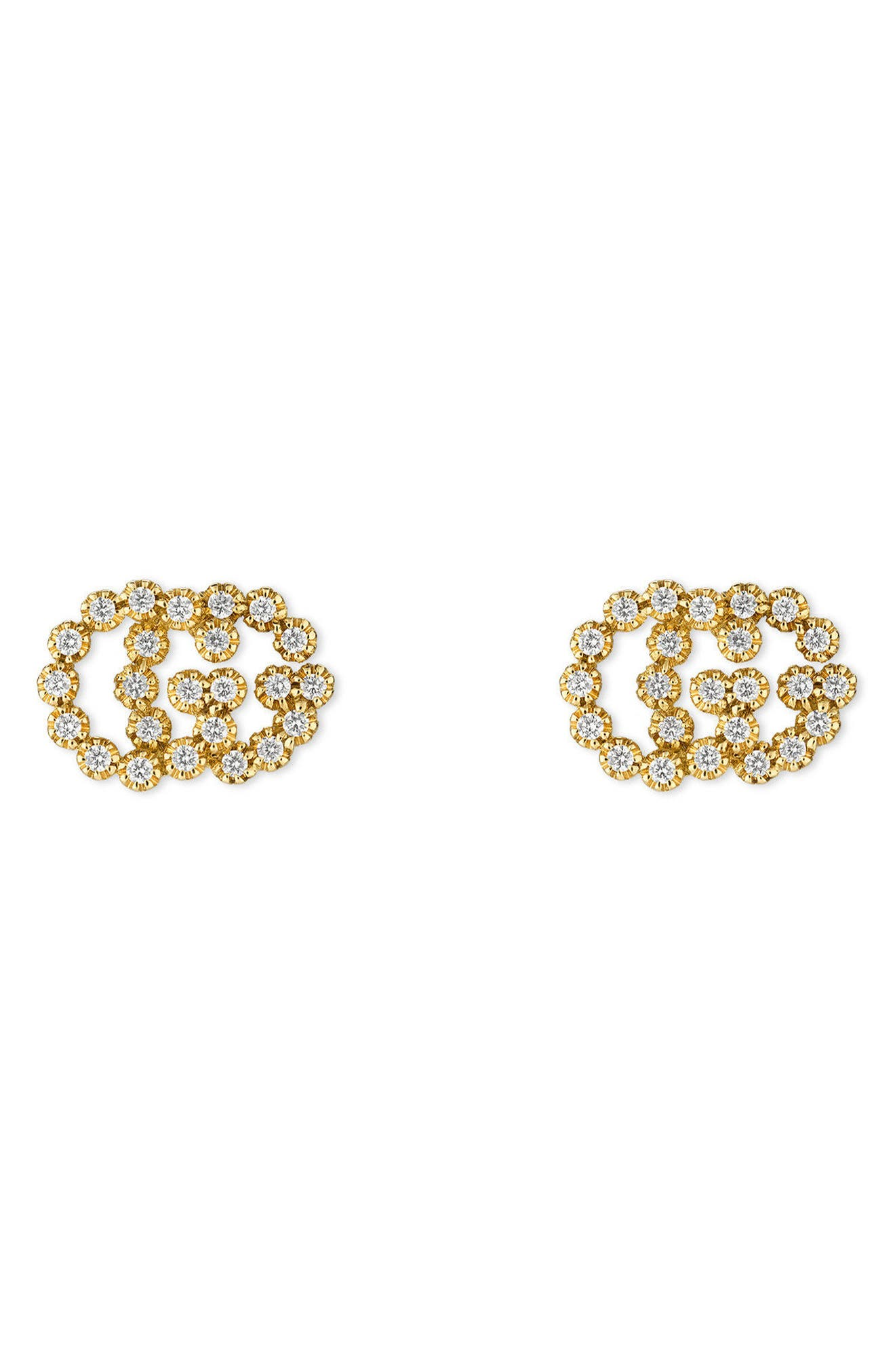 gucci jewelry. gucci double-g diamond stud earrings jewelry
