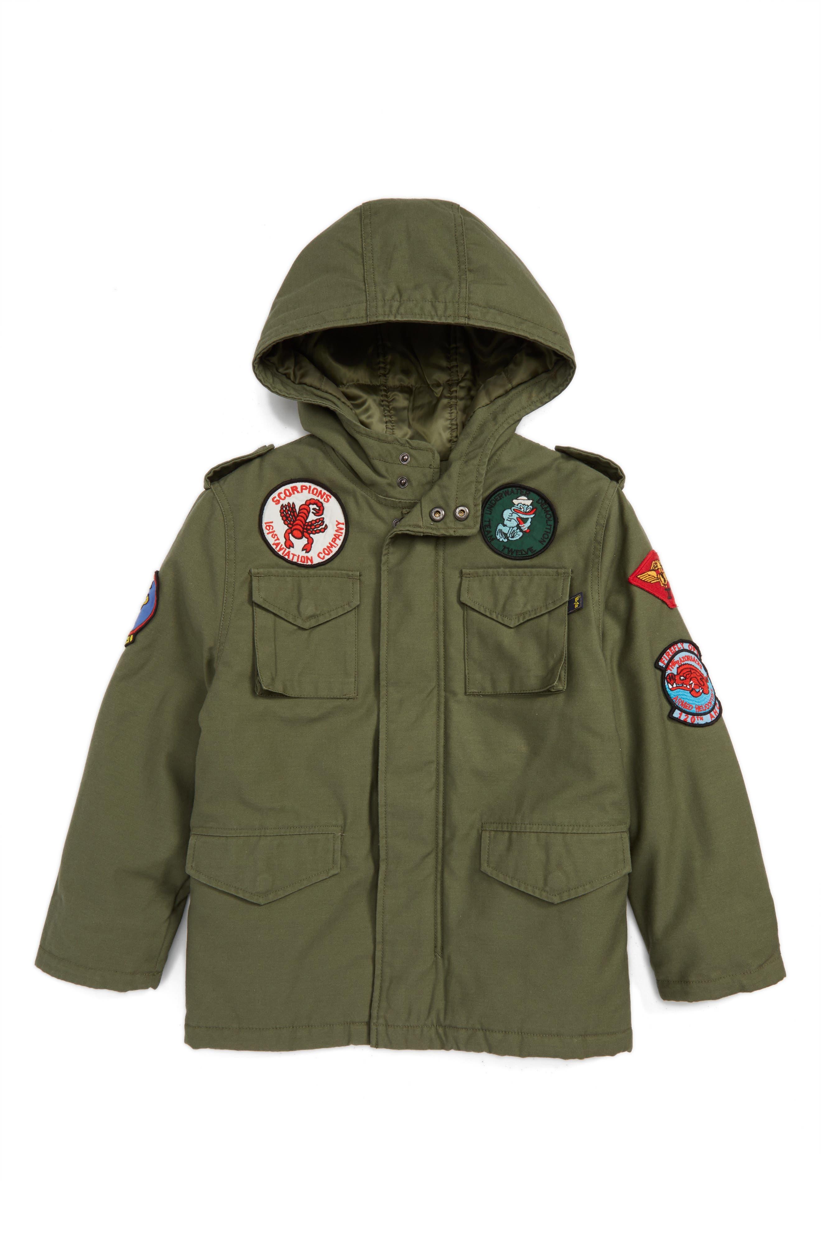 M-65 Noah Field Jacket,                         Main,                         color, Olive