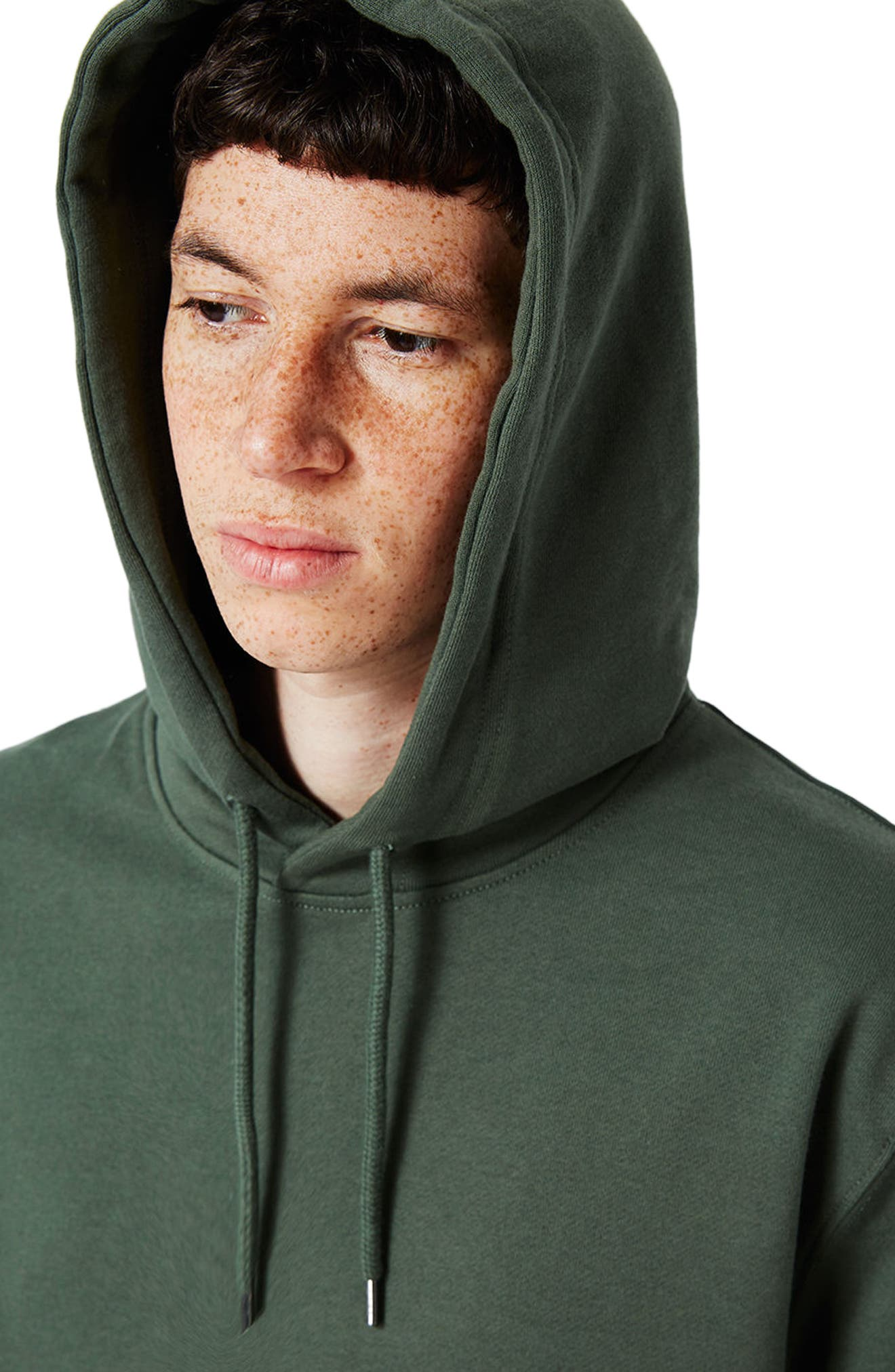 Classic Fit Hoodie,                             Alternate thumbnail 4, color,                             Olive