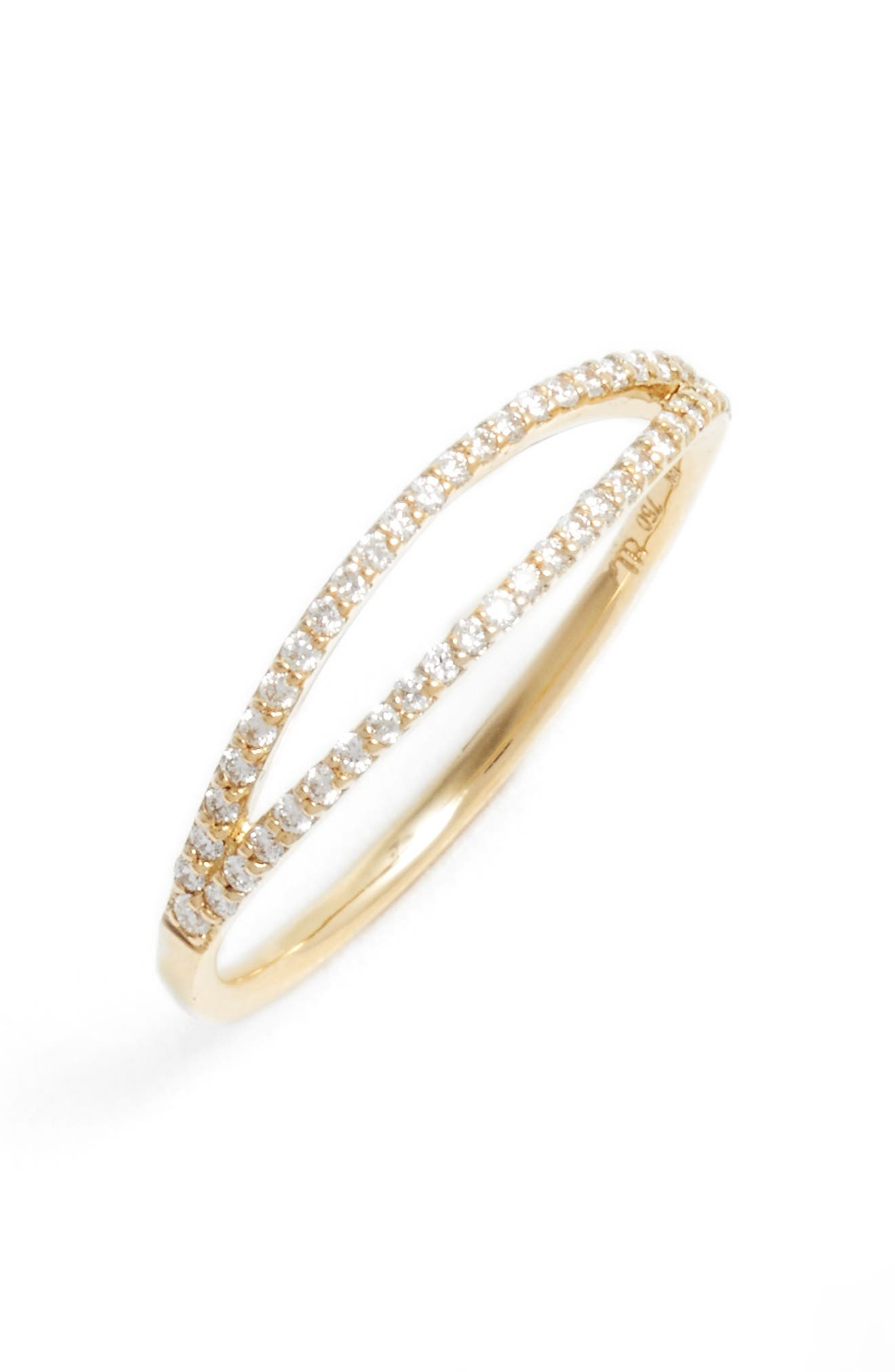 Alternate Image 1 Selected - Bony Levy Kiera Two-Row Diamond Stack Ring (Nordstrom Exclusive)