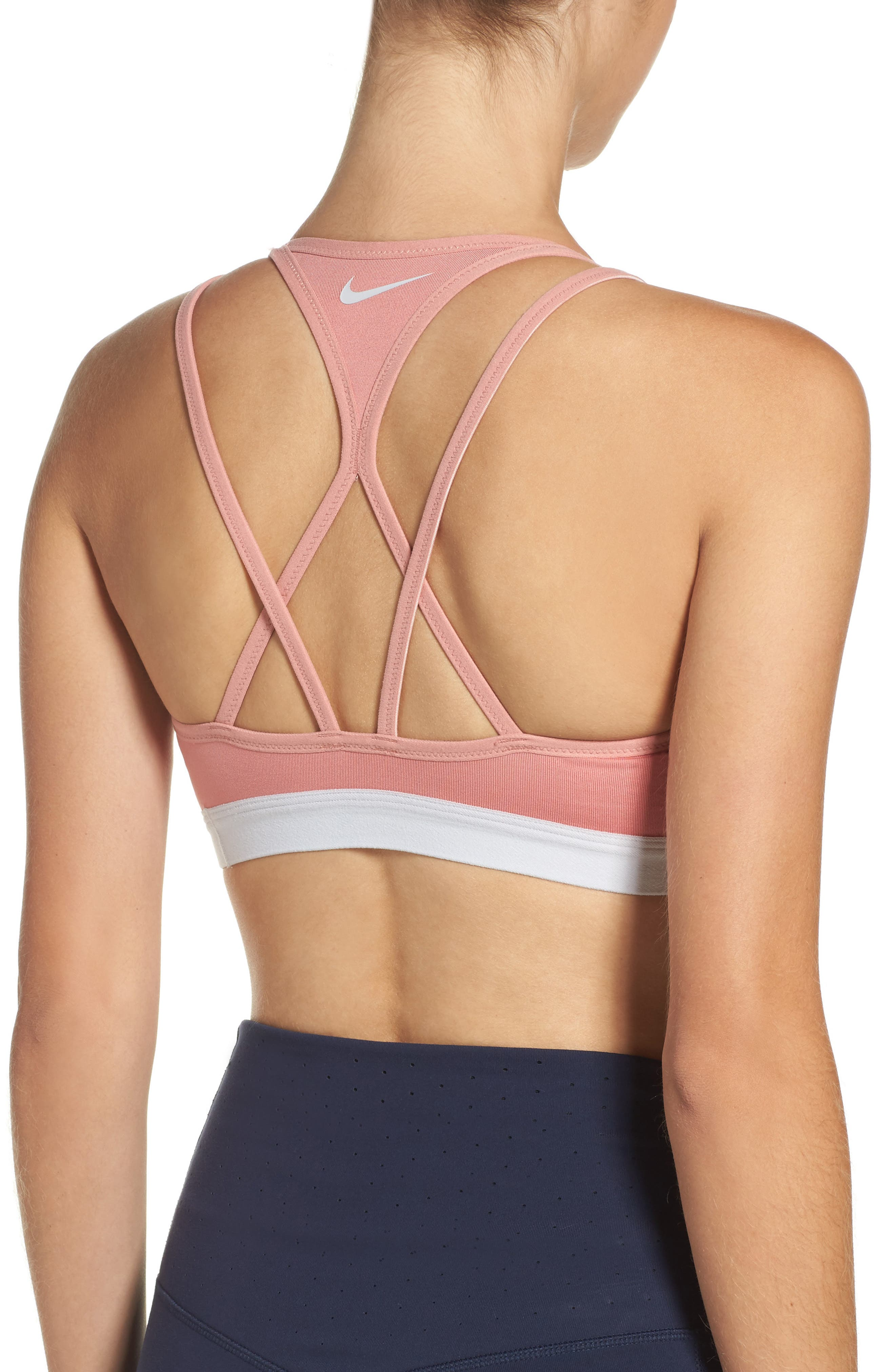 Pro Indy Cooling Sports Bra,                             Alternate thumbnail 3, color,                             Red Stardust/ Platinum