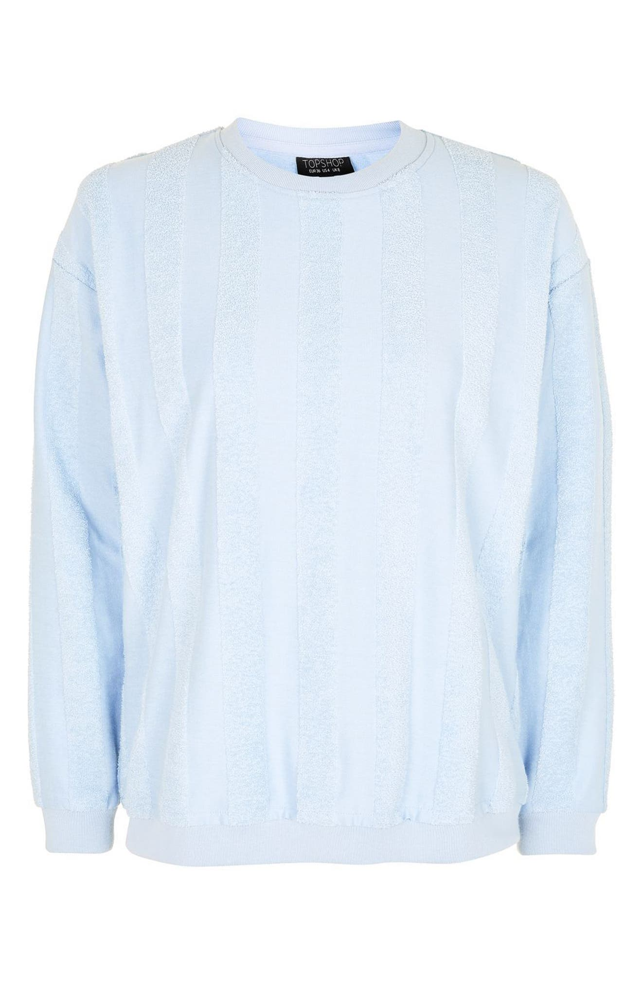 Alternate Image 4  - Topshop Towel Stripe Lounge Sweatshirt