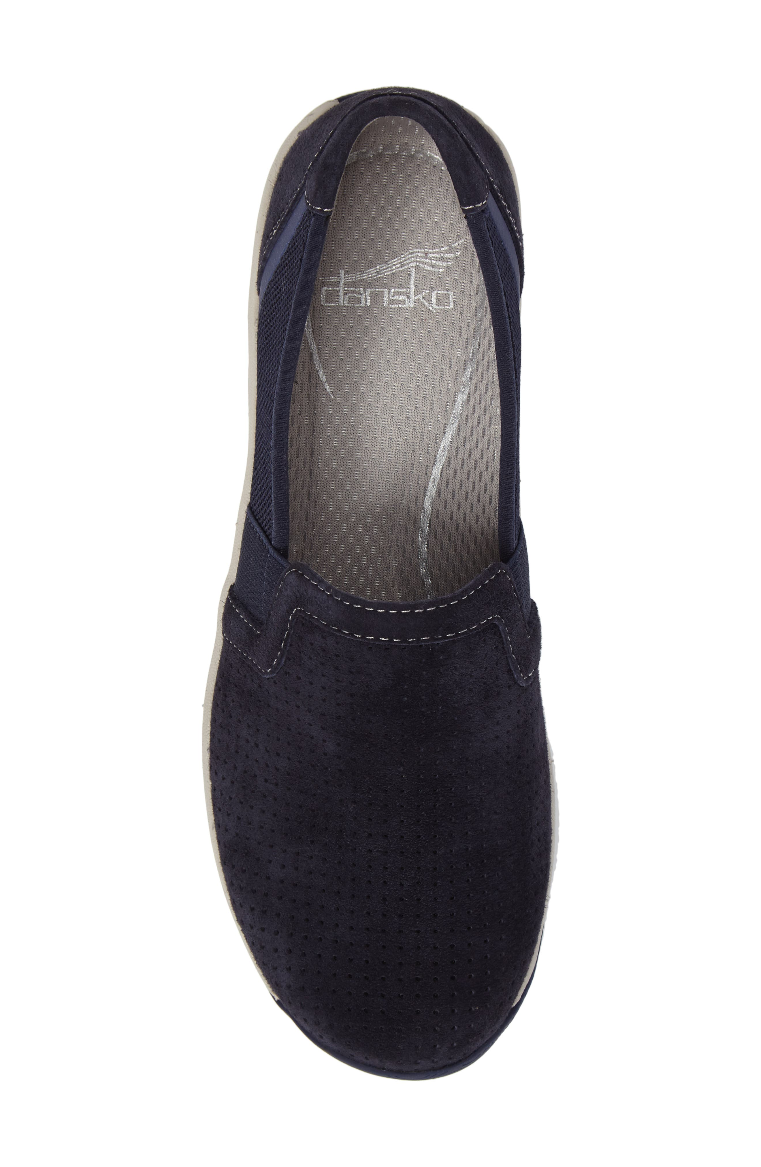 Halifax Collection Halle Slip-On Sneaker,                             Alternate thumbnail 5, color,                             Navy Suede