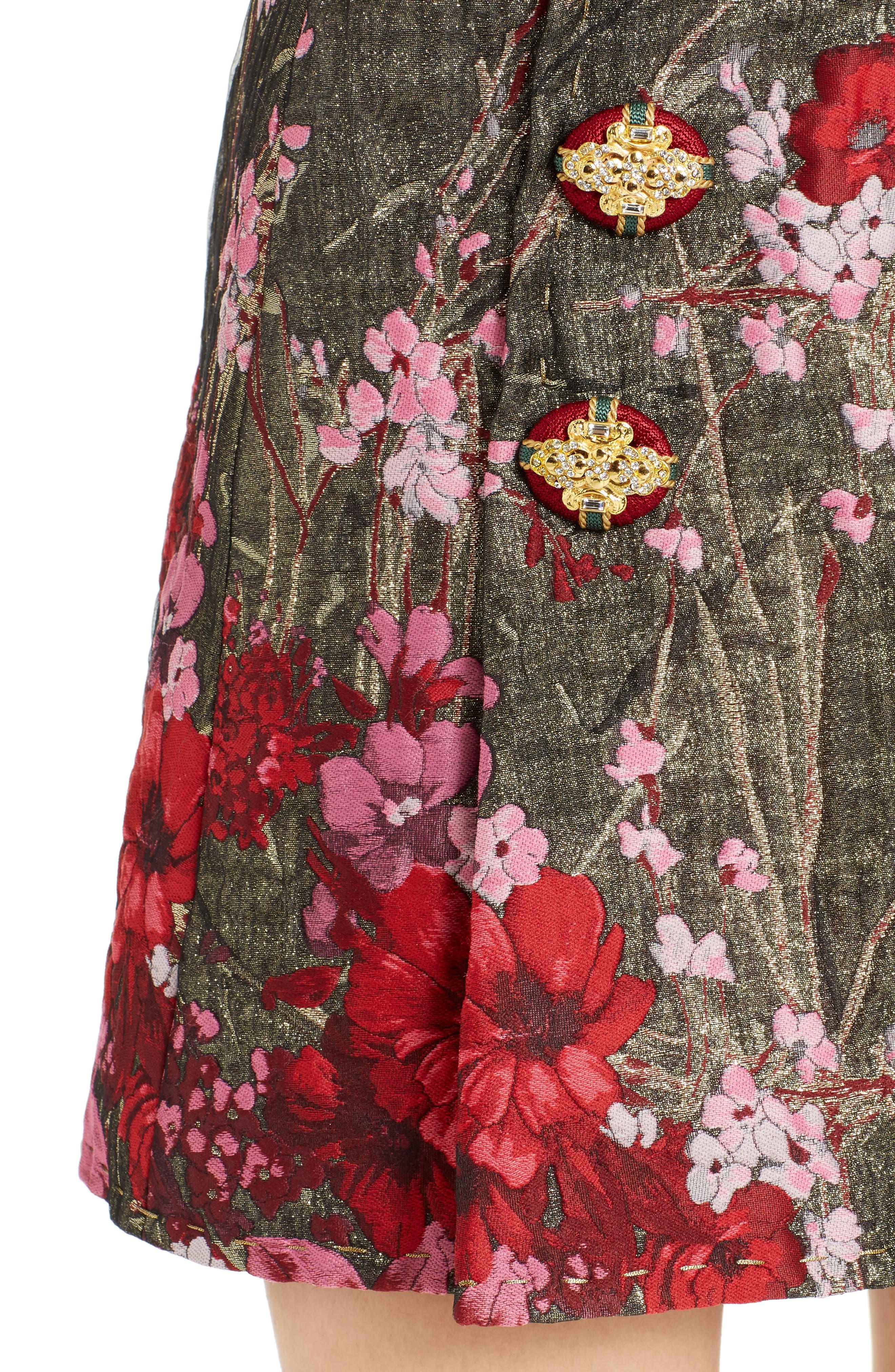 Alternate Image 5  - Dolce&Gabbana Metallic Jacquard Miniskirt