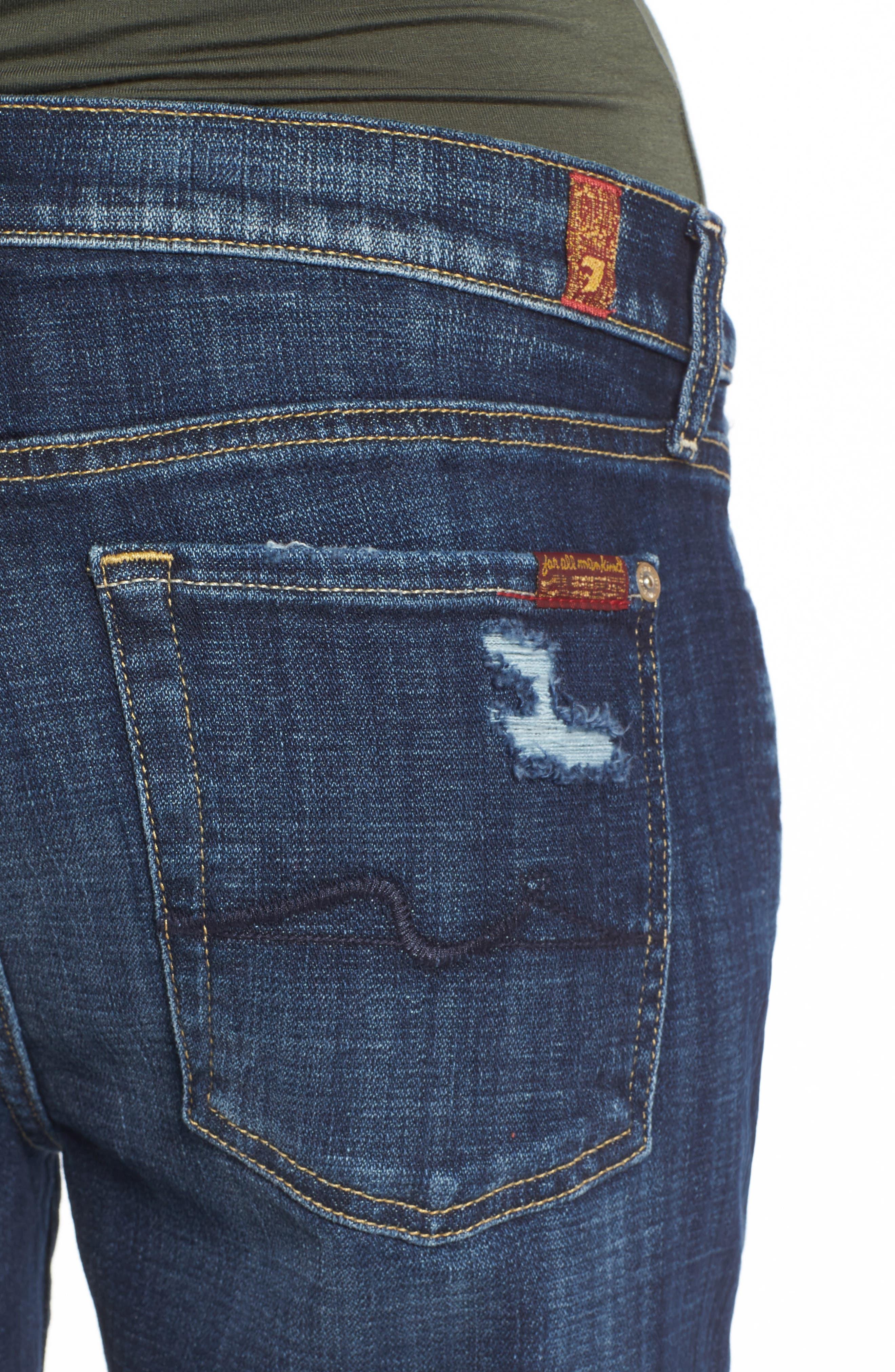 Josefina Boyfriend Jeans,                             Alternate thumbnail 6, color,                             Majestic Broken Twill