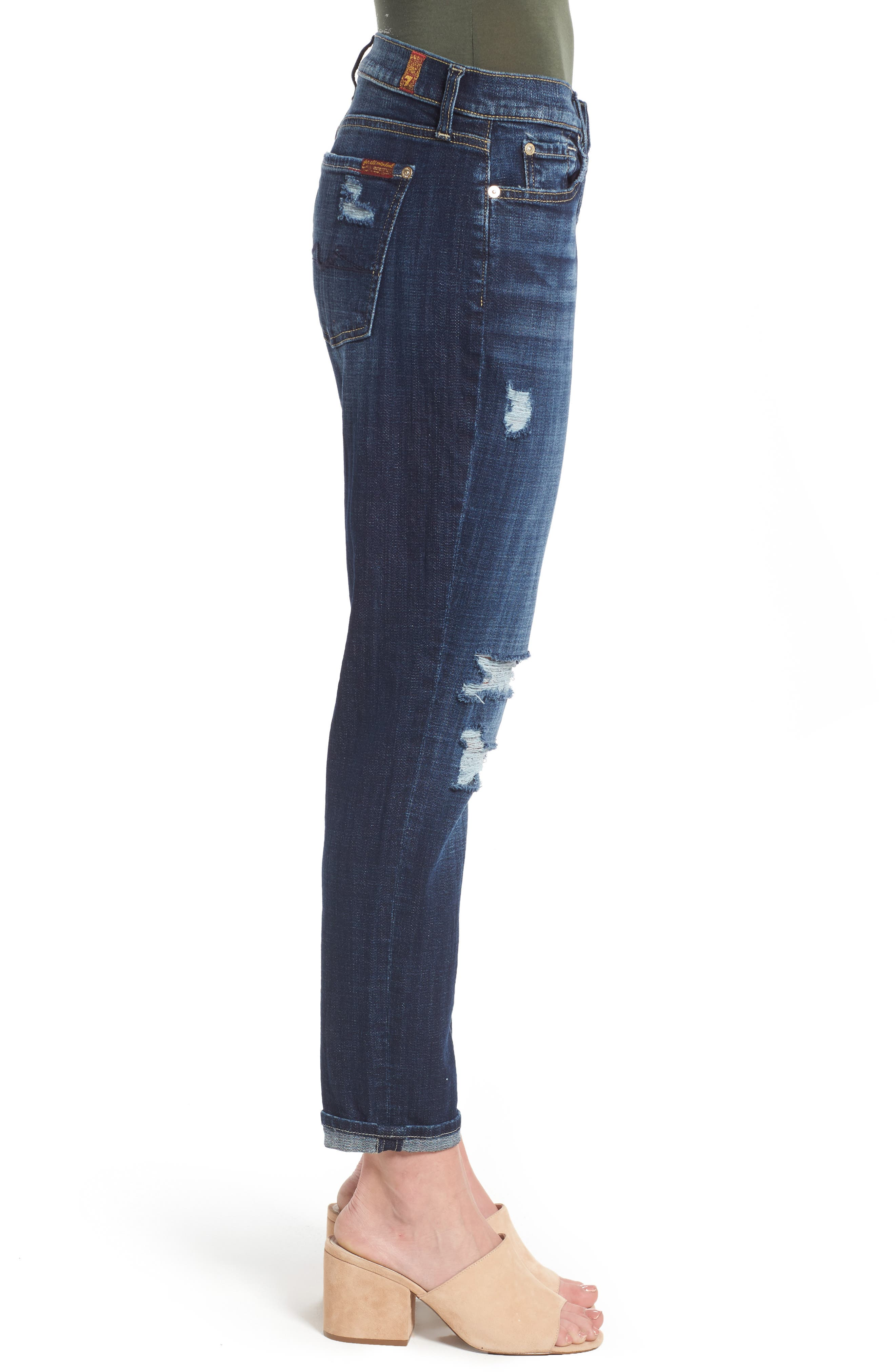 Josefina Boyfriend Jeans,                             Alternate thumbnail 4, color,                             Majestic Broken Twill