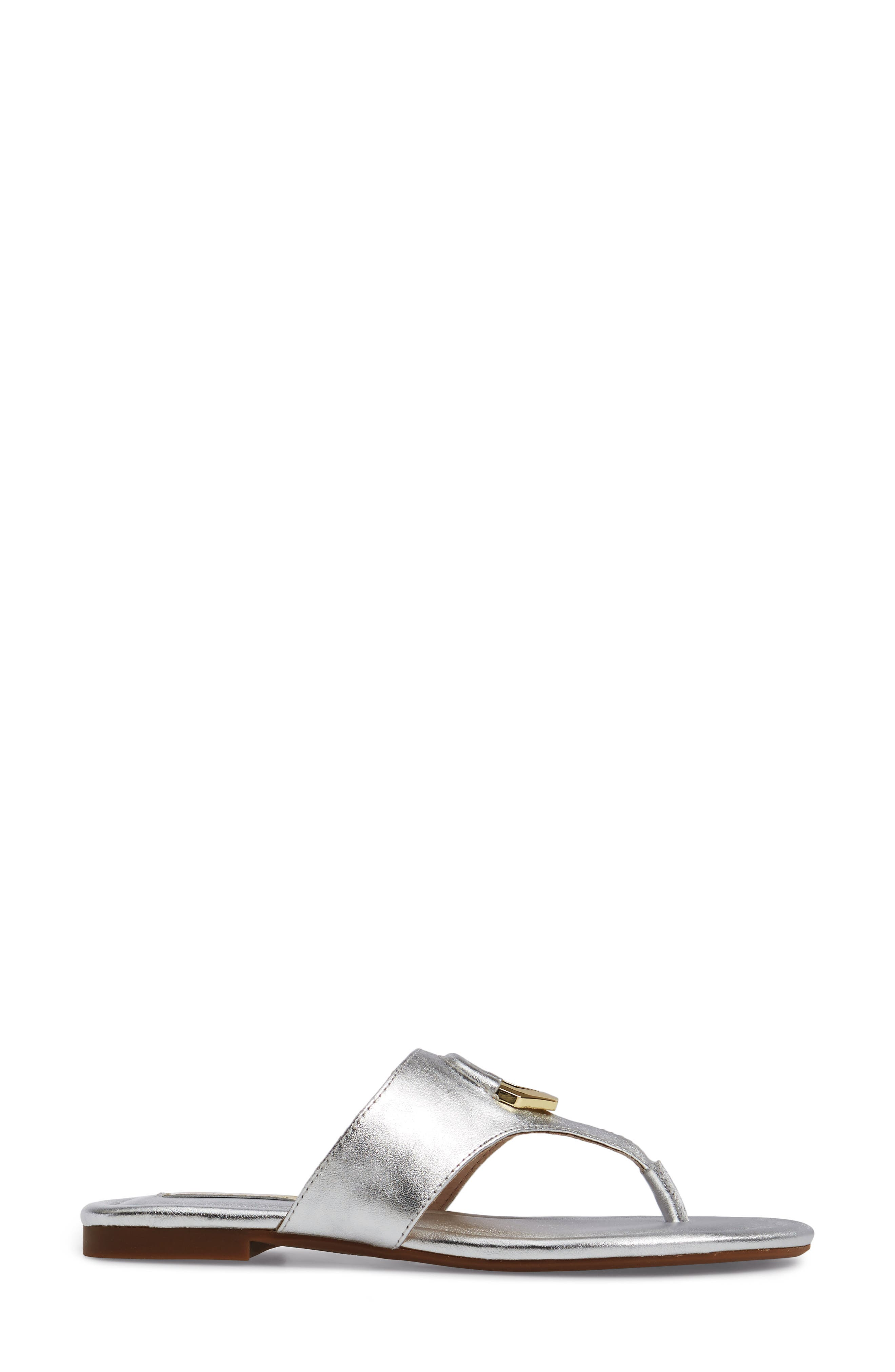 Adana Flip Flop,                             Alternate thumbnail 3, color,                             Sterling Leather