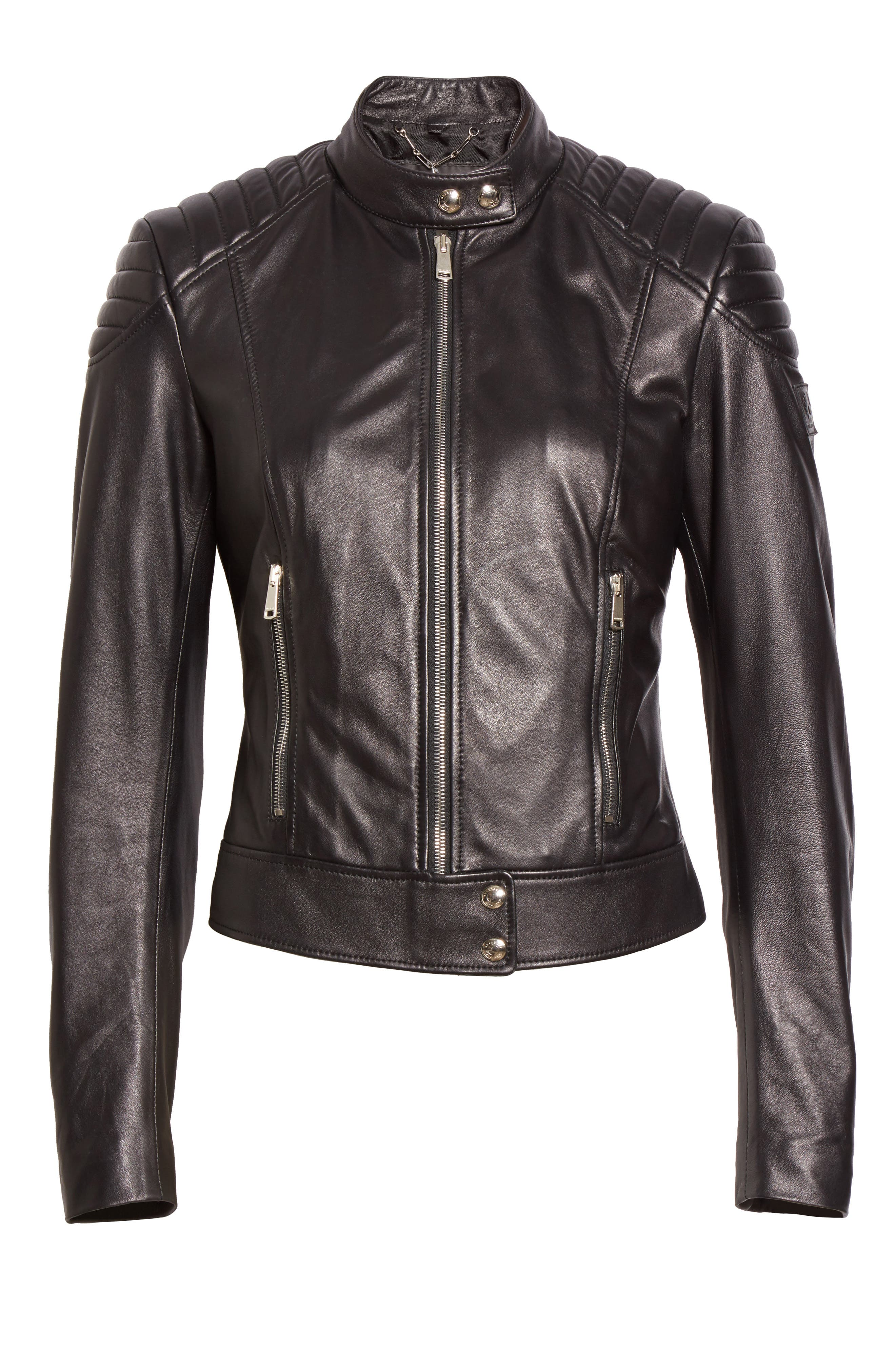 Alternate Image 4  - Belstaff Mollison Leather Moto Jacket