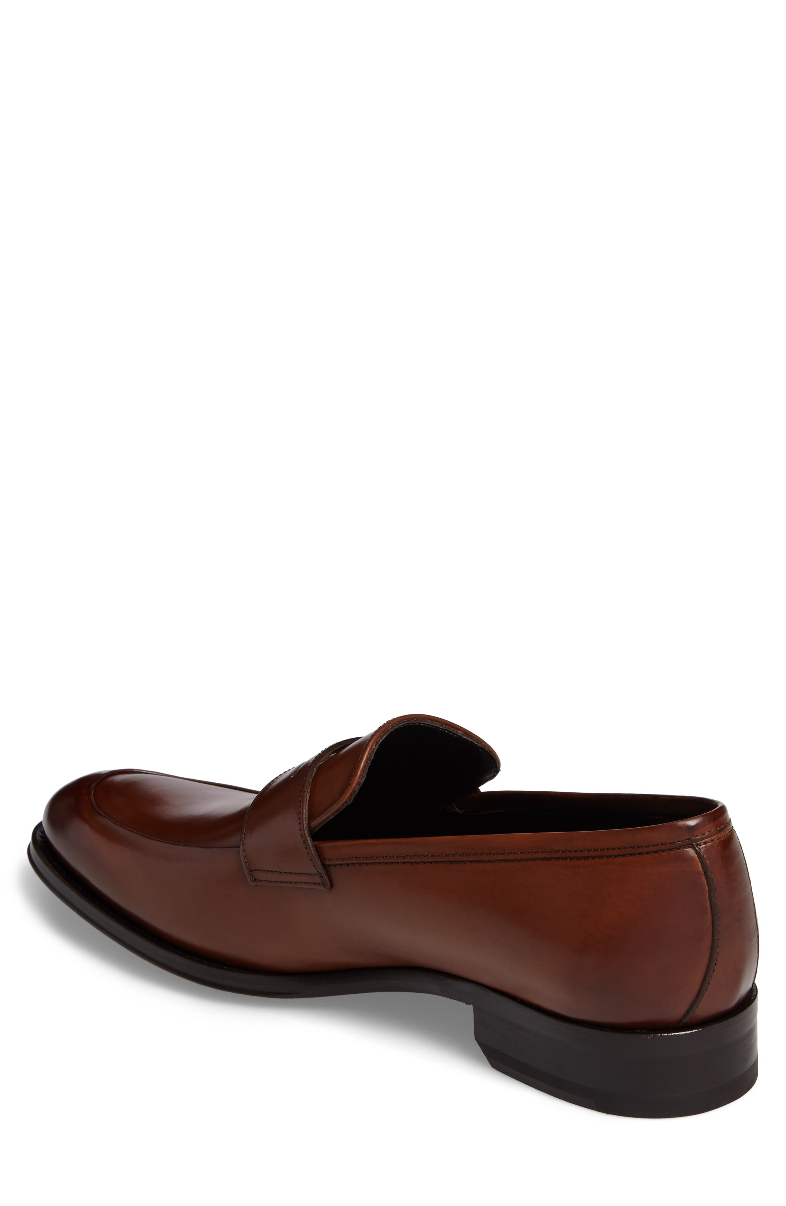 Francis Penny Loafer,                             Alternate thumbnail 2, color,                             Brown Leather