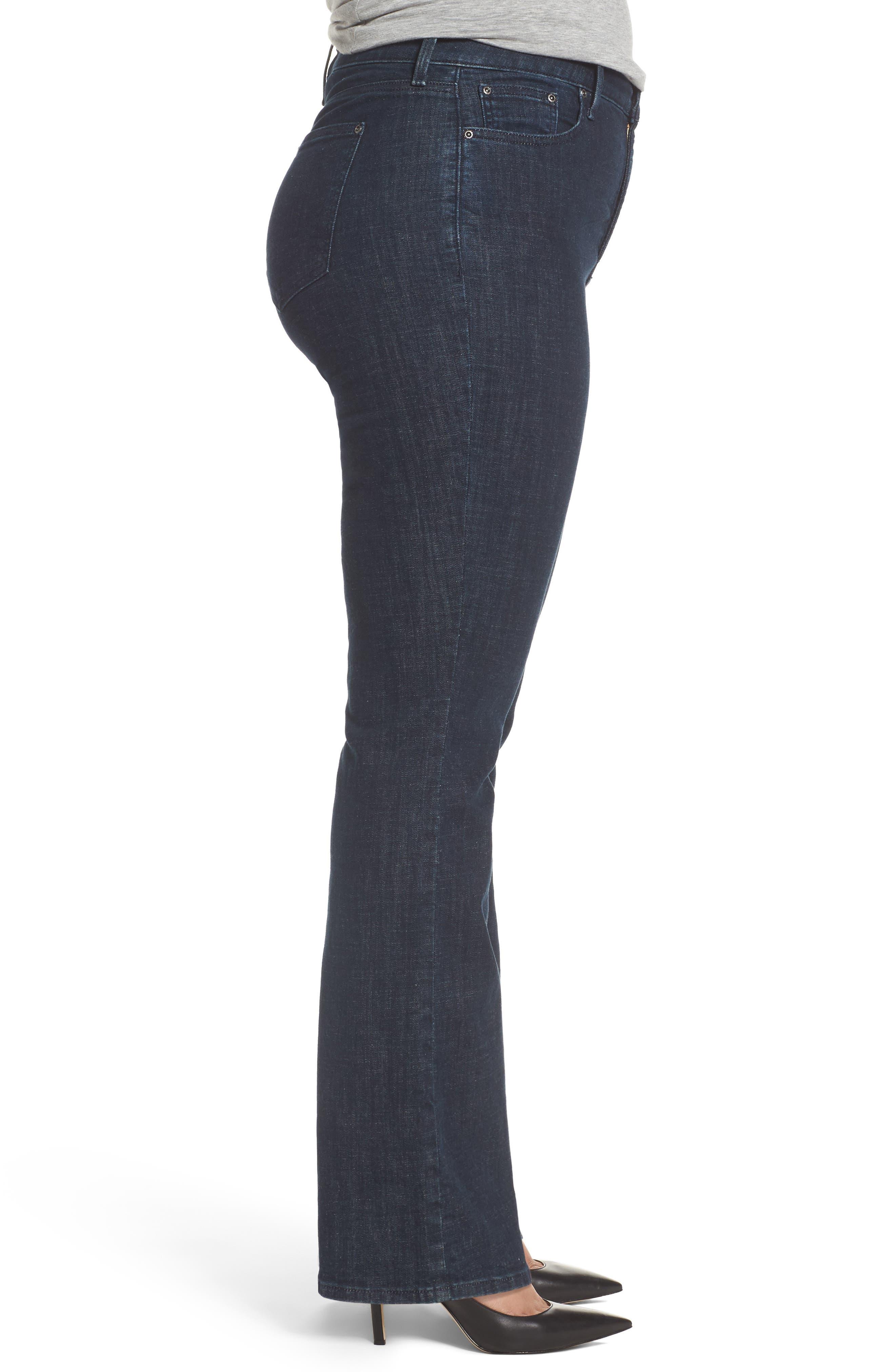 Alternate Image 3  - NYDJ Barbara Stretch Bootcut Jeans (Plus Size)