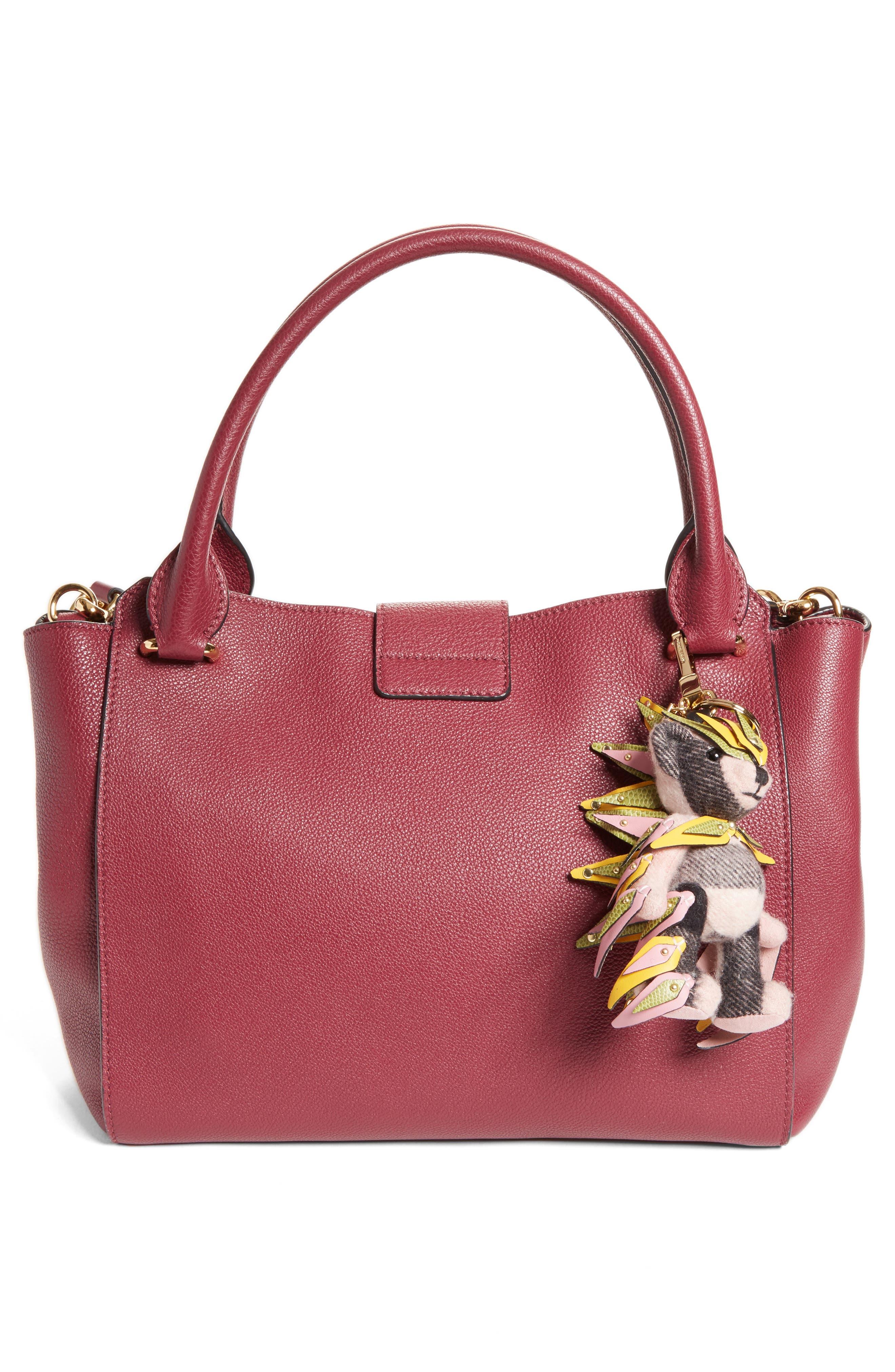 Alternate Image 2  - Burberry Thomas Bear Cashmere Bag Charm