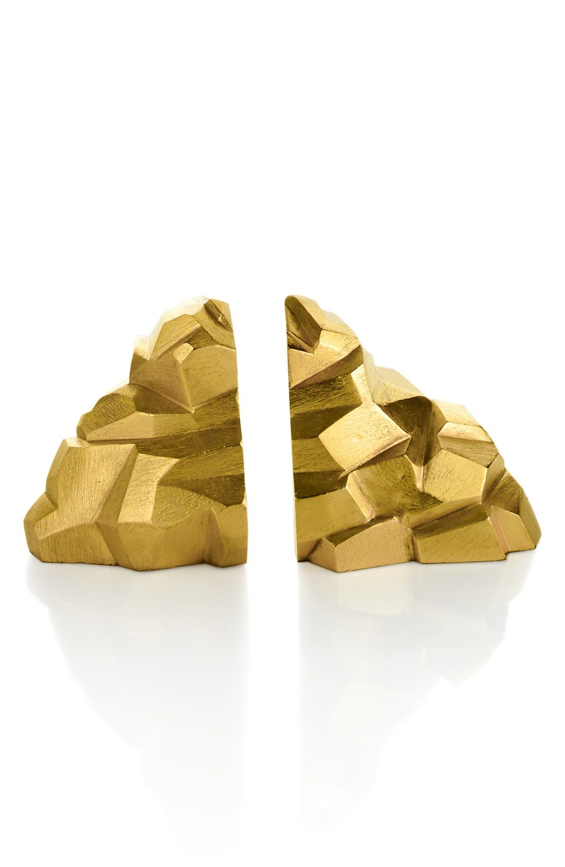'Rock' Bookends,                         Main,                         color, Gold