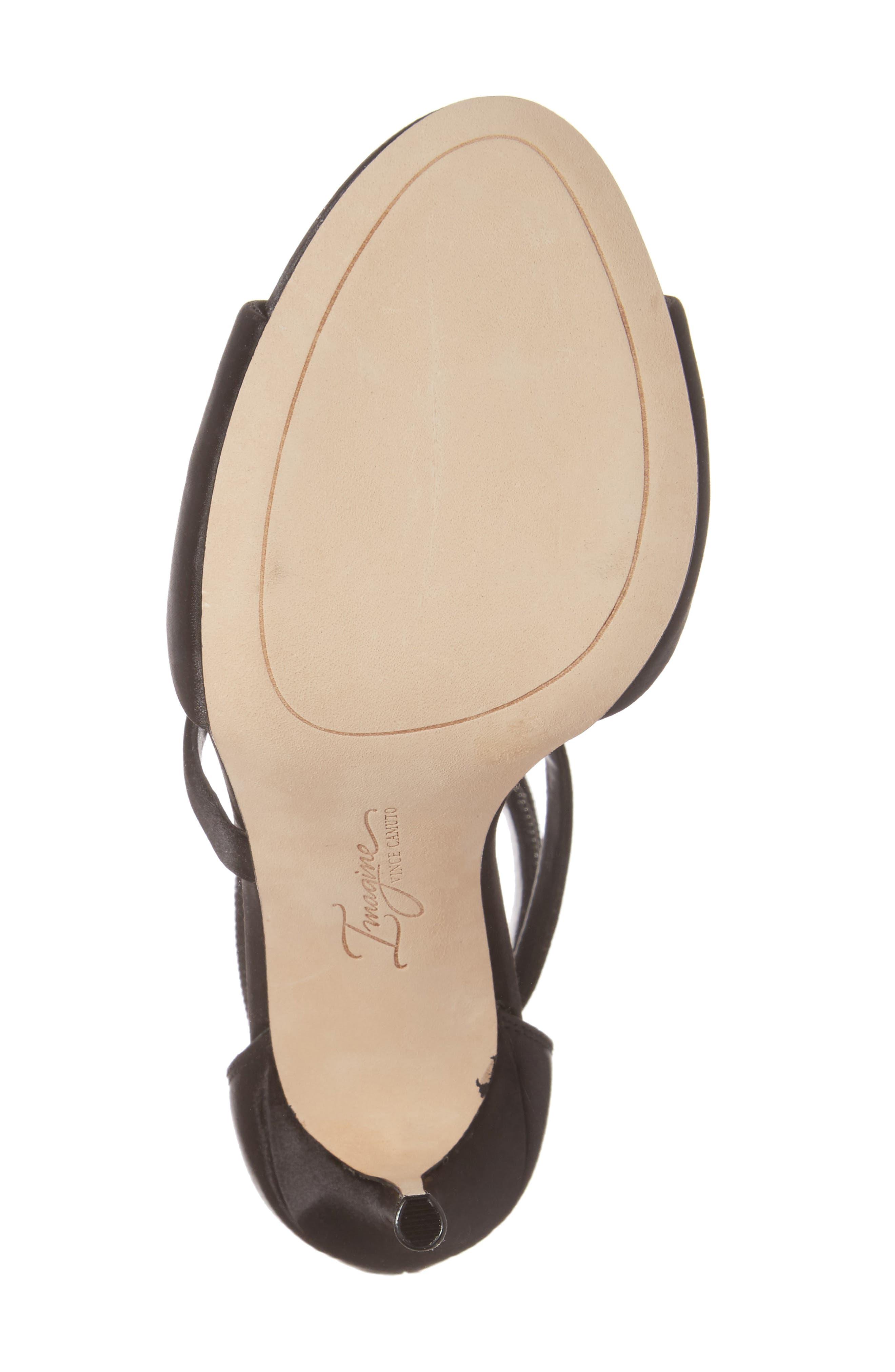 Imagine Vince Camuto Dafny Embellished Sandal,                             Alternate thumbnail 6, color,                             Black Satin