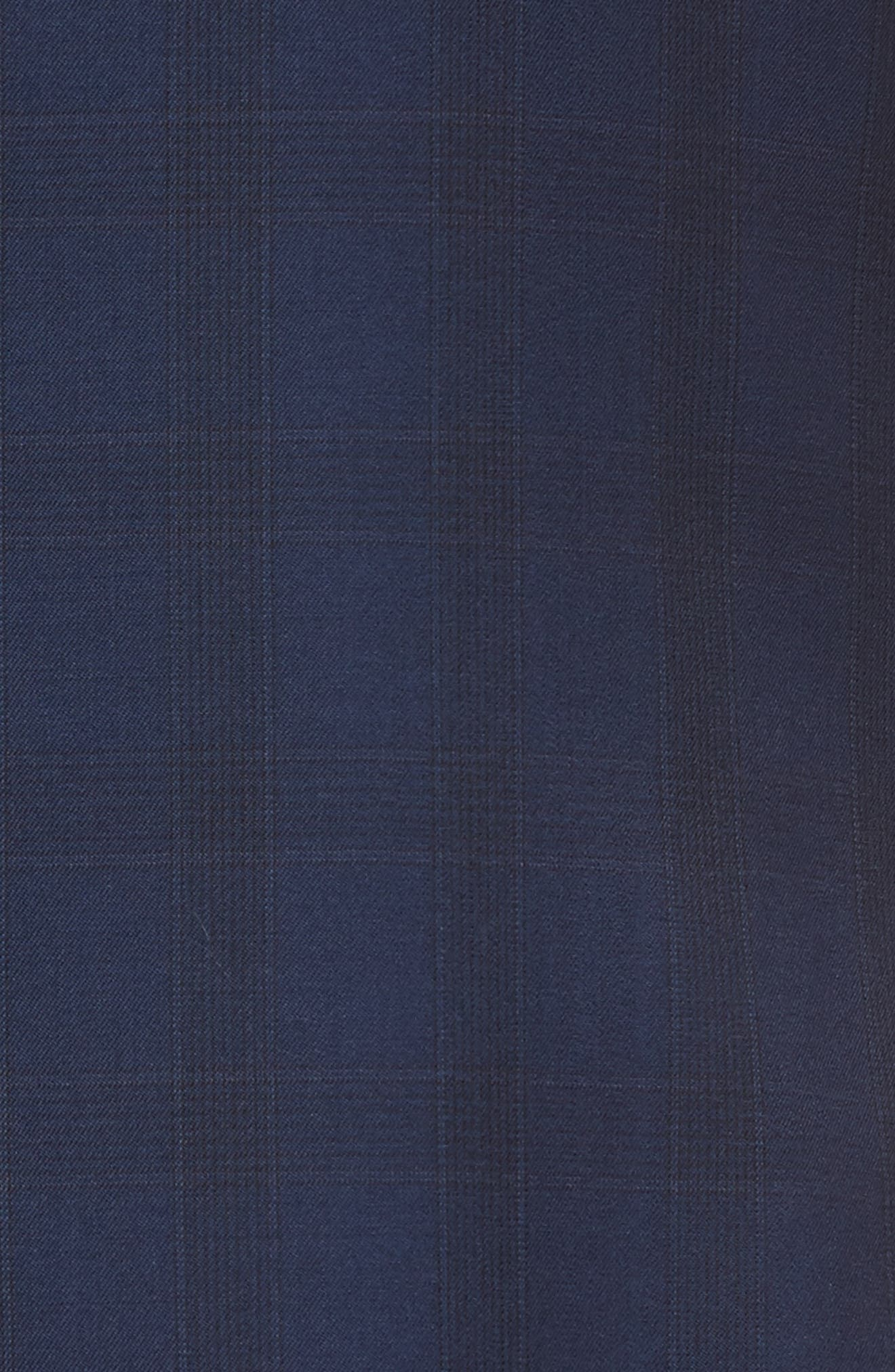 Jay Trim Fit Plaid Wool Suit,                             Alternate thumbnail 7, color,                             Blue