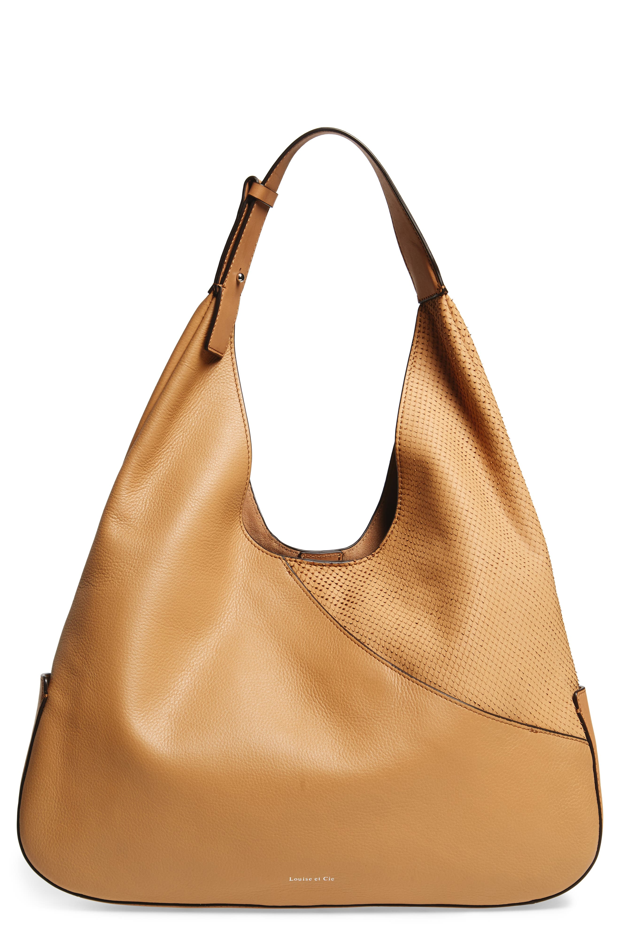 Louise et Cie Large Sonye Leather Hobo Bag