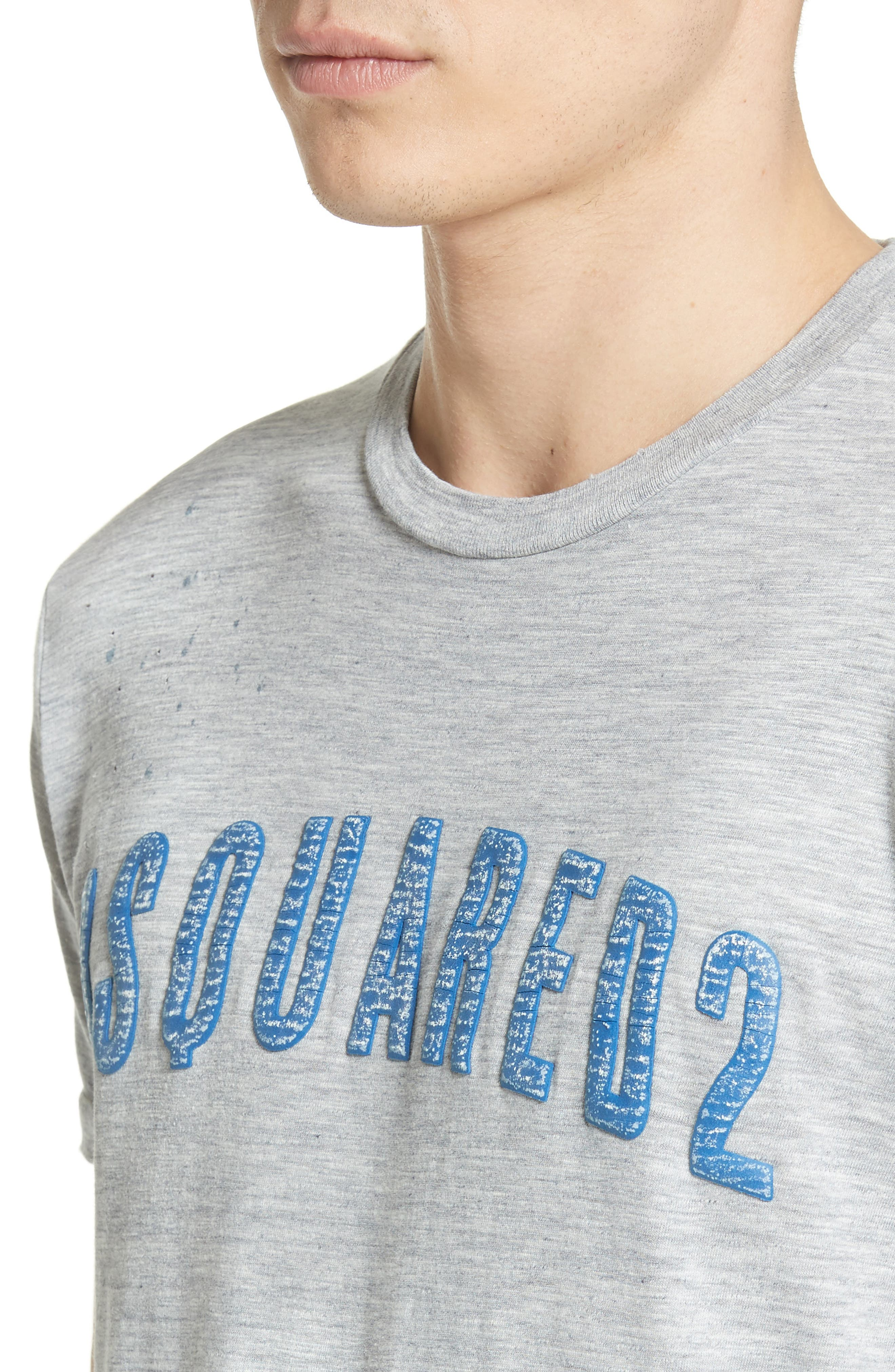 Logo Graphic T-Shirt,                             Alternate thumbnail 4, color,                             Grey/ Blue