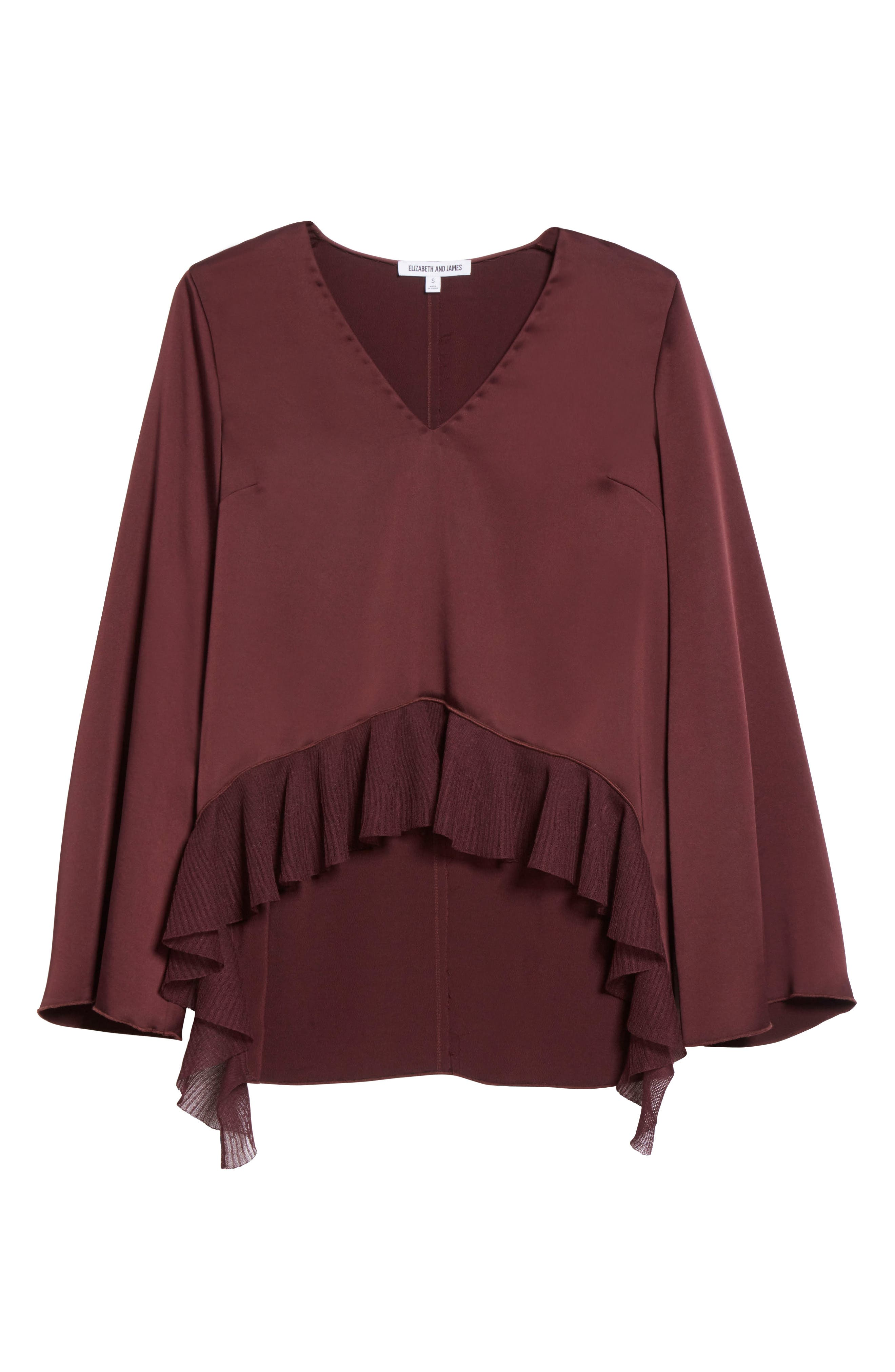 Alternate Image 6  - Elizabeth and James Heath Ruffle Hem Top (Nordstrom Exclusive)