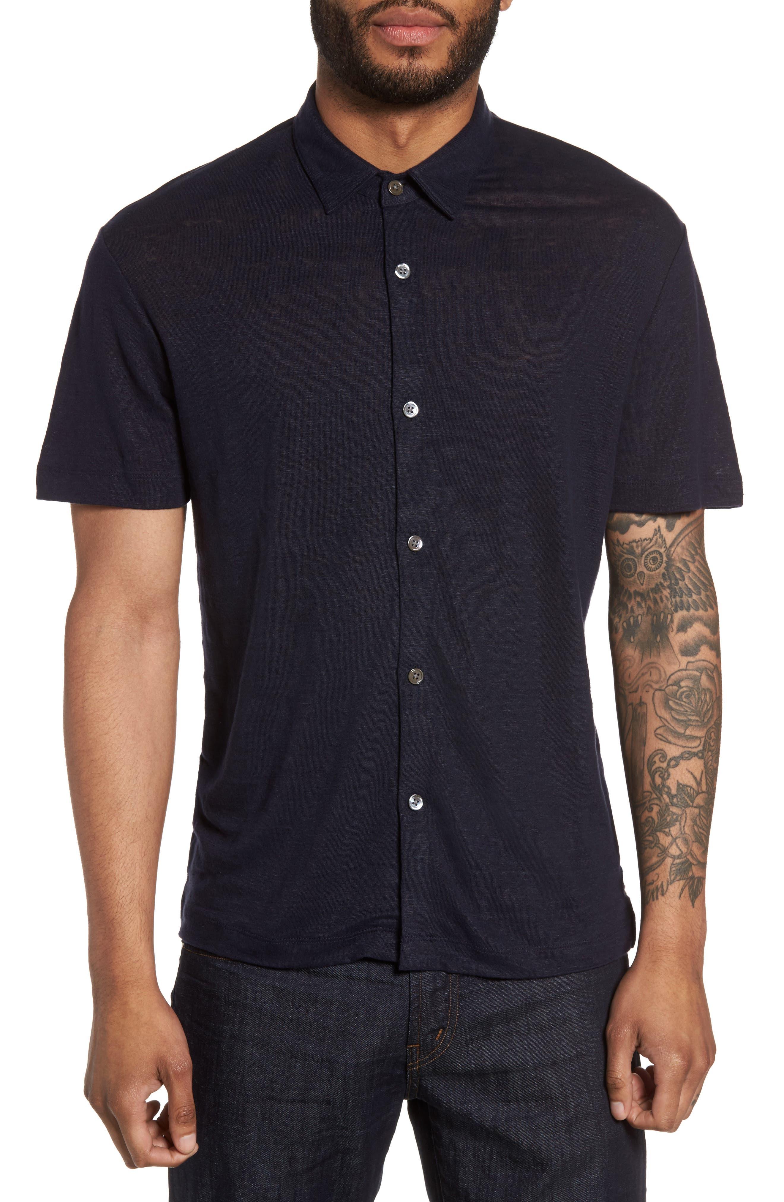 THEORY Linen Knit Sport Shirt