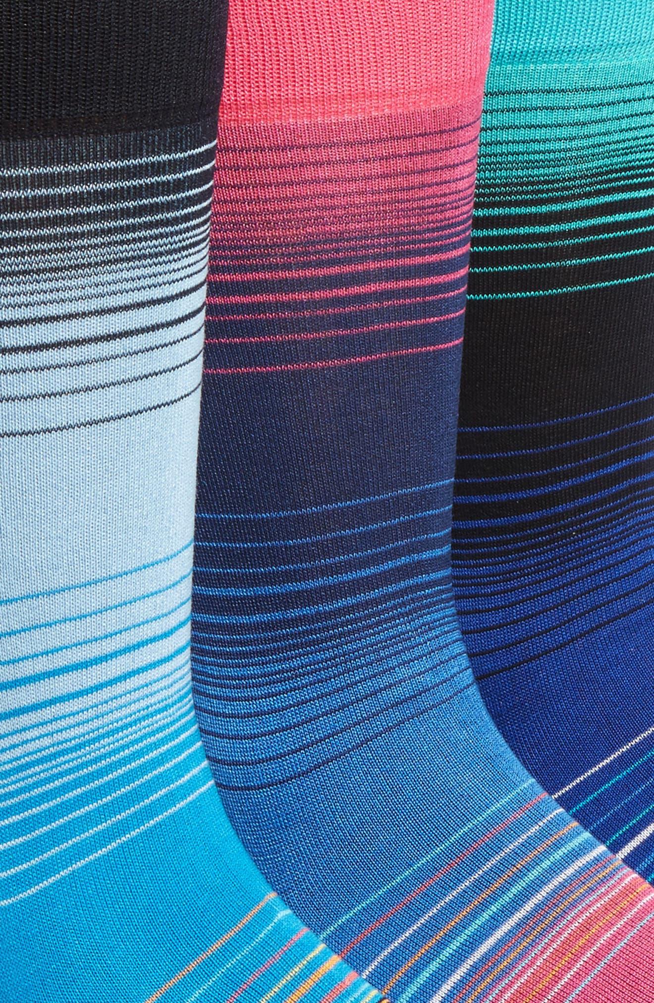 Alternate Image 2  - Bugatchi 3-Pack Cotton Blend Socks