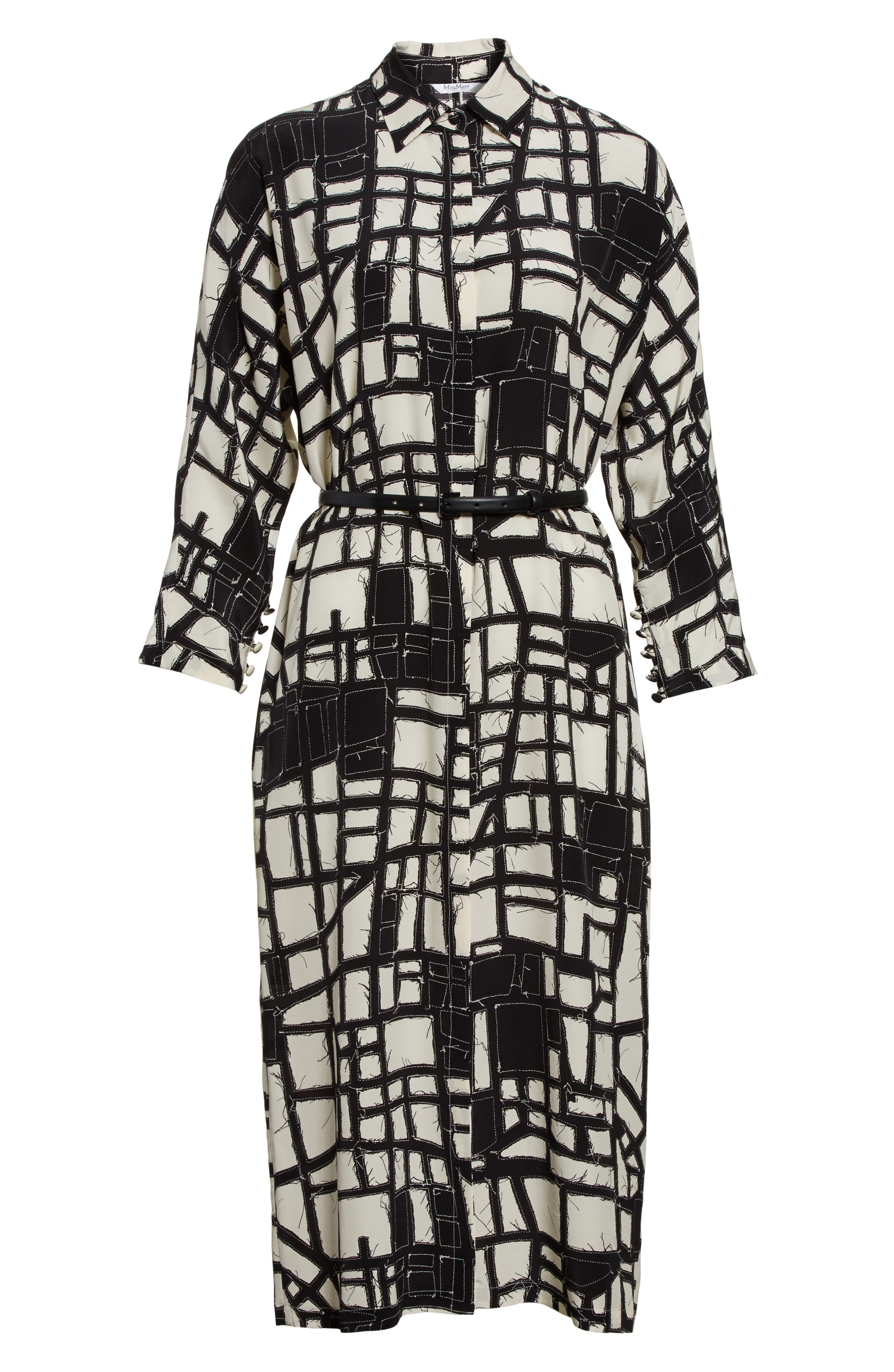 Alternate Image 4  - Max Mara Aligi Print Silk Dress