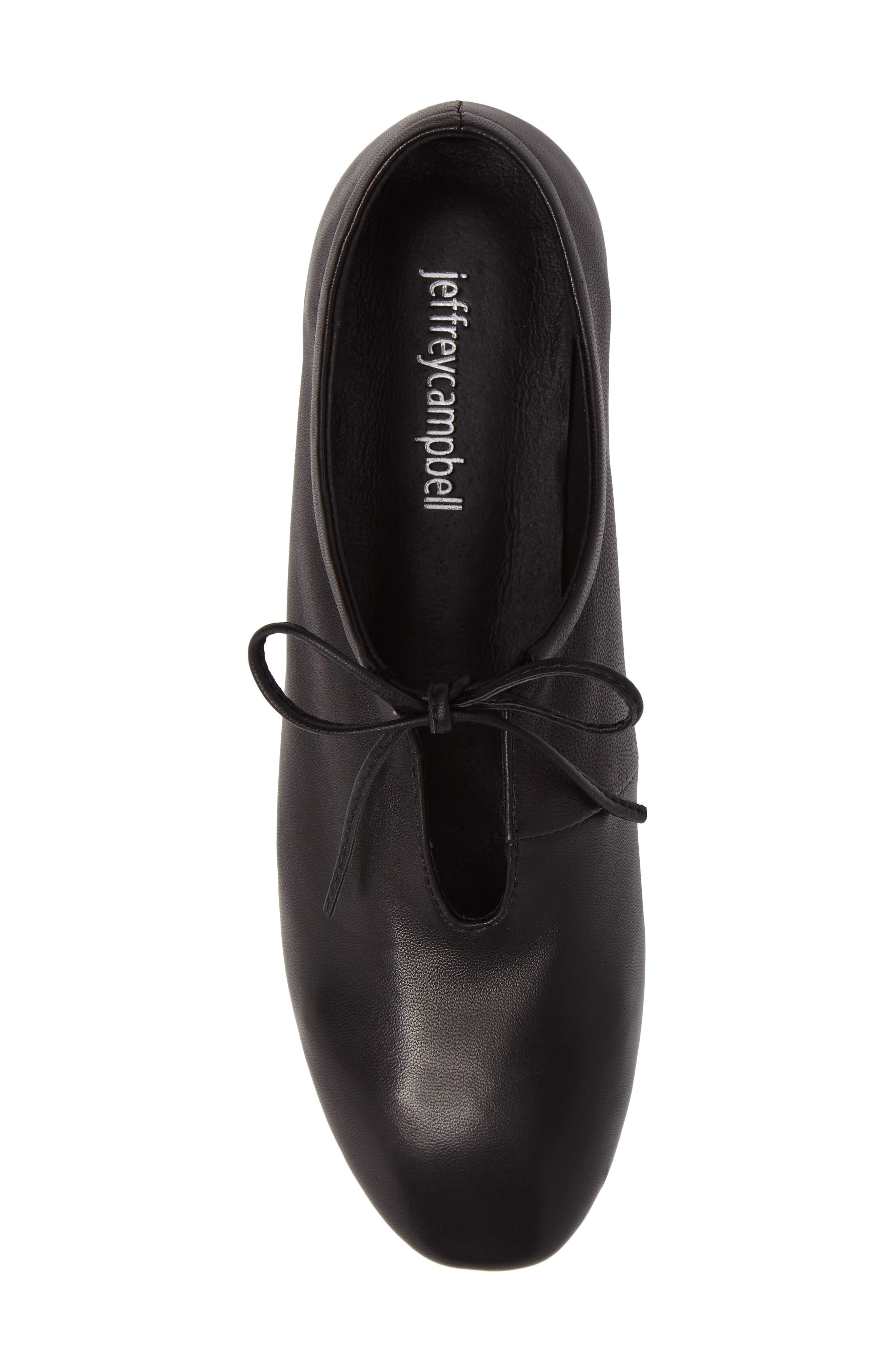 Prieto V-Cut Flat,                             Alternate thumbnail 5, color,                             Black Leather