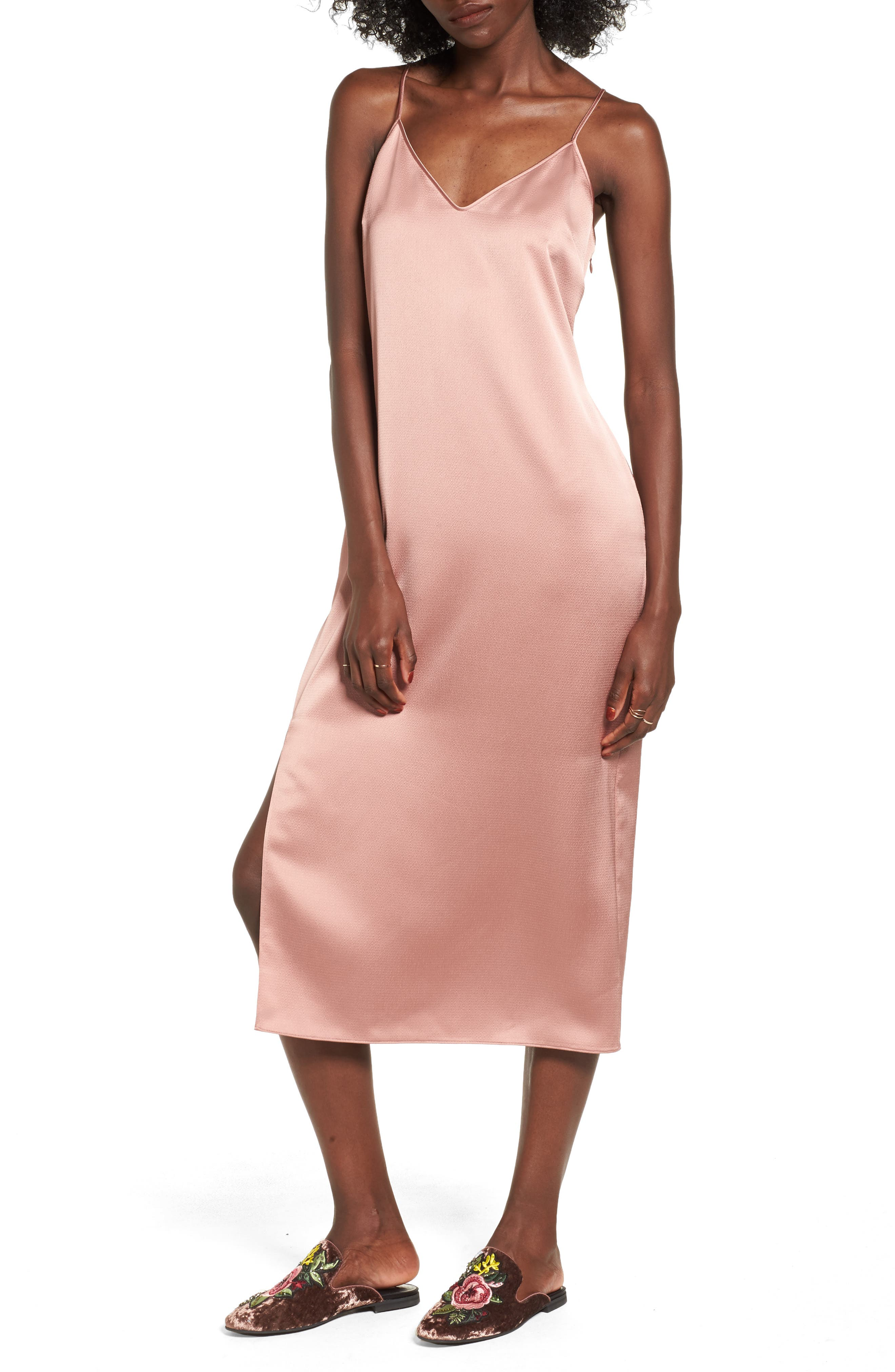 Slipdress,                             Main thumbnail 1, color,                             Tan Burlwood