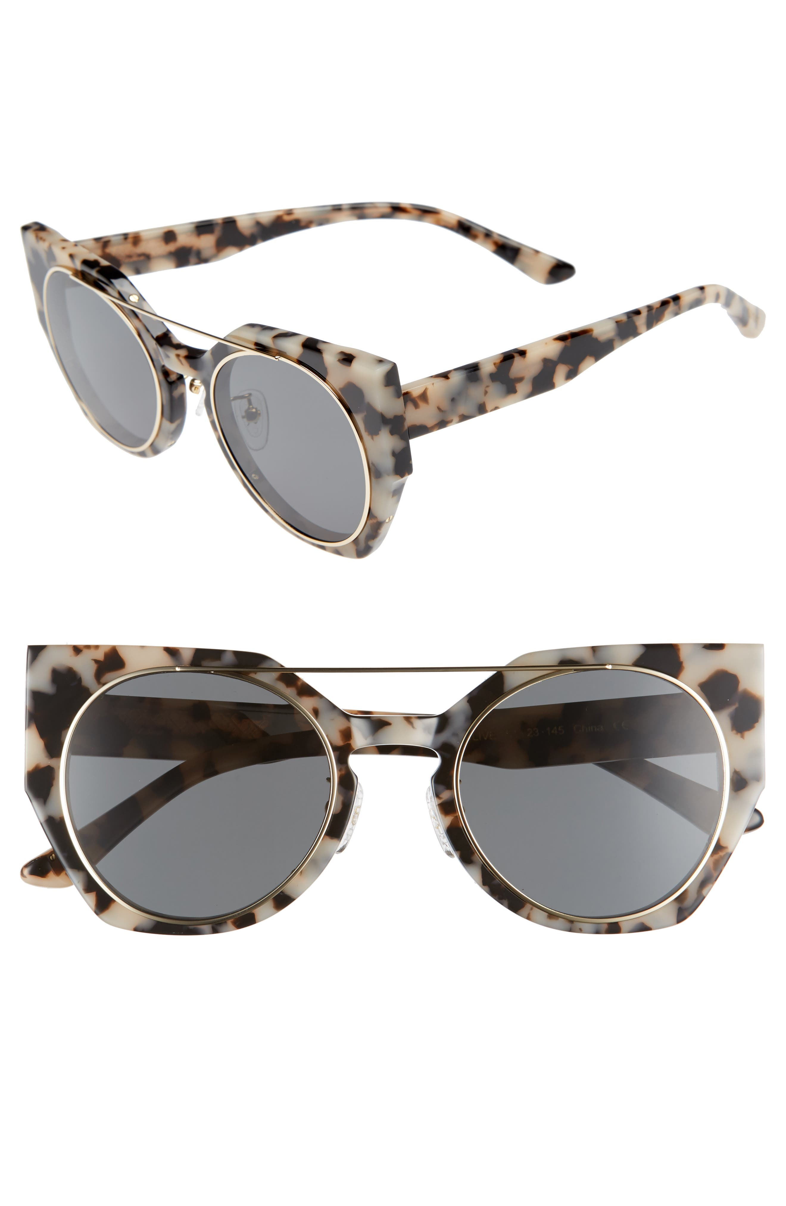 Alternate Image 1 Selected - Bonnie Clyde Olive 51mm Polarized Cat Eye Sunglasses