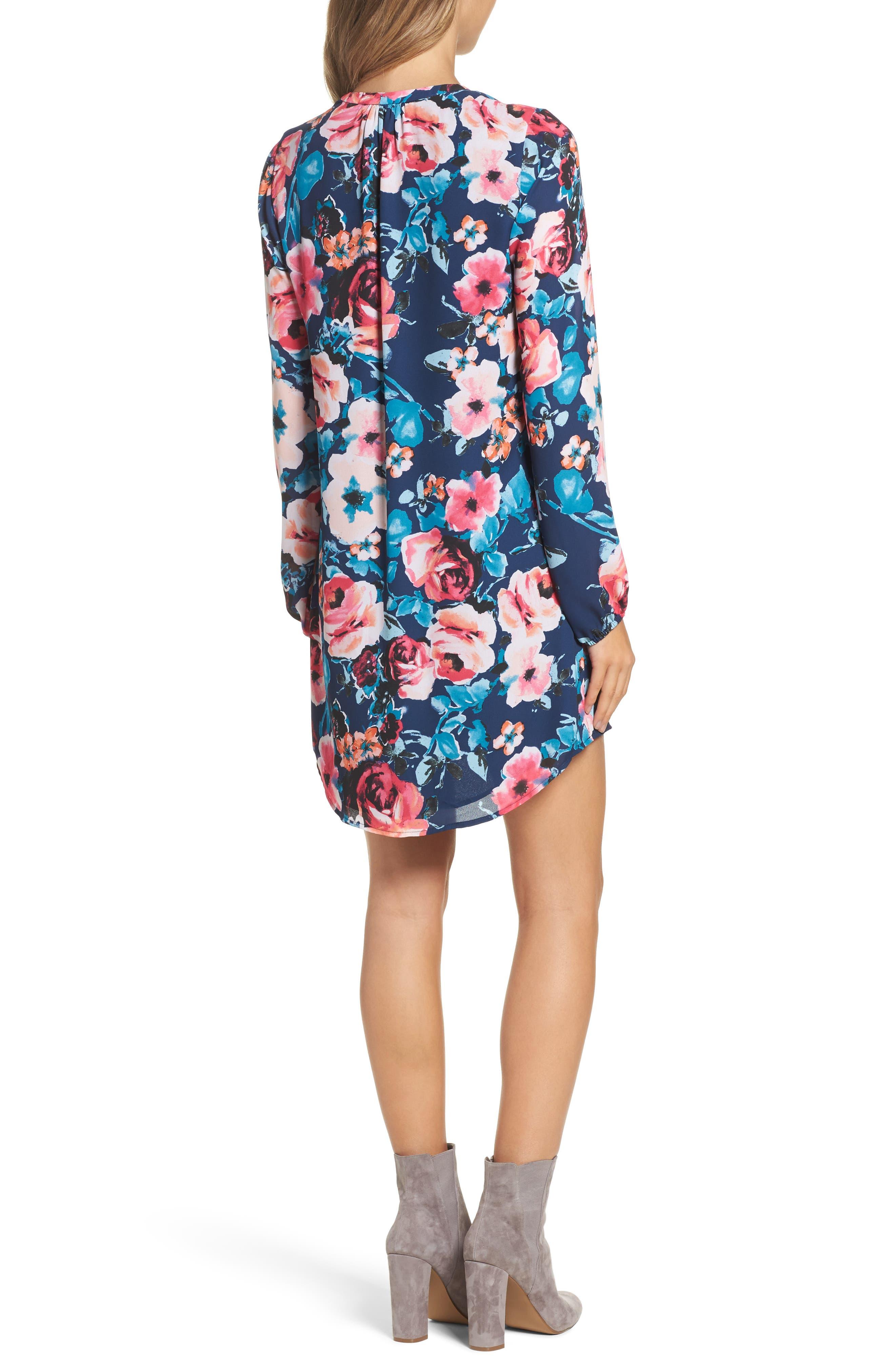 Alternate Image 2  - Charles Henry Floral Shirtdress (Regular & Petite)