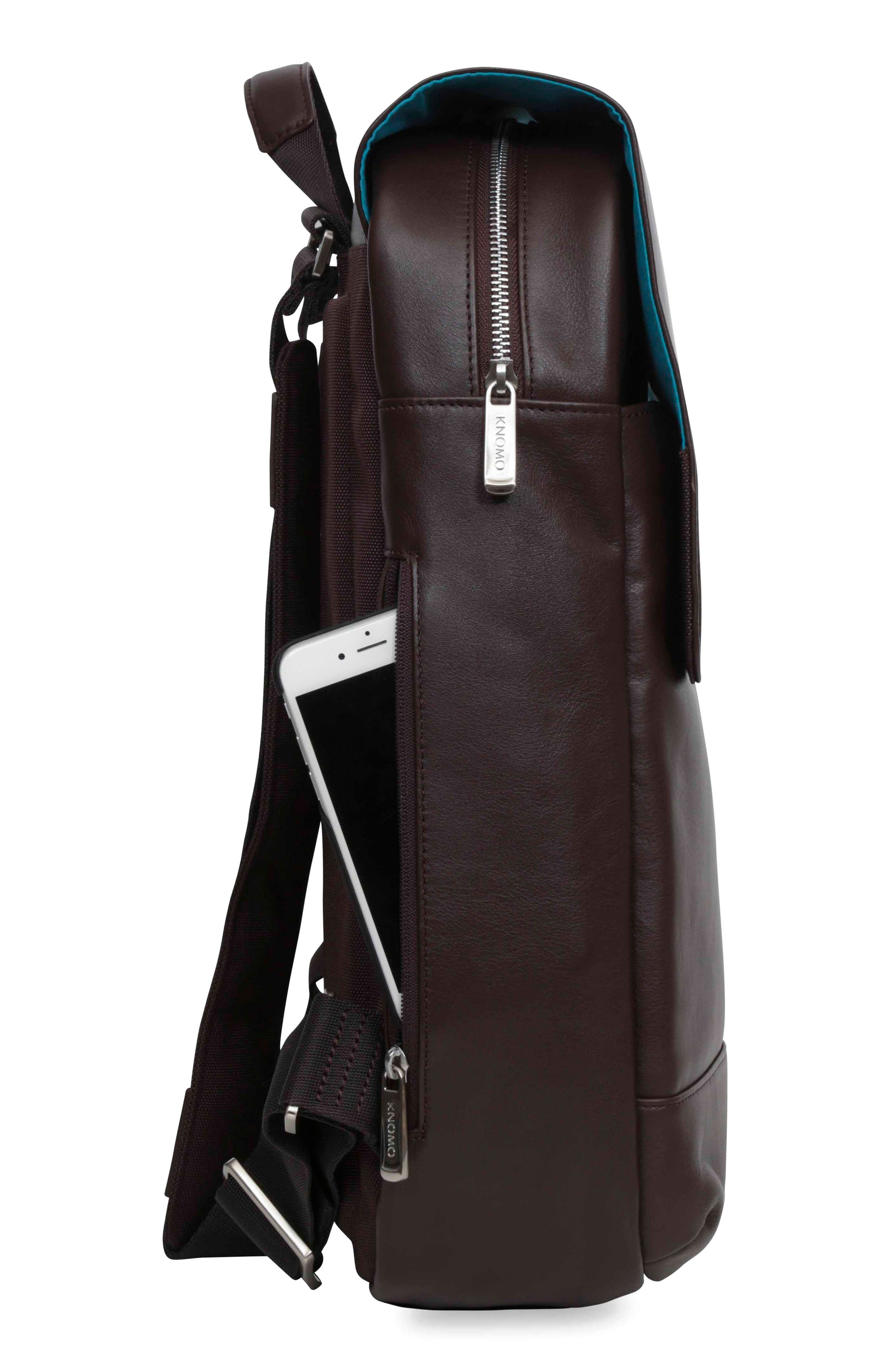 Alternate Image 5  - KNOMO London Brompton Hudson Leather Backpack