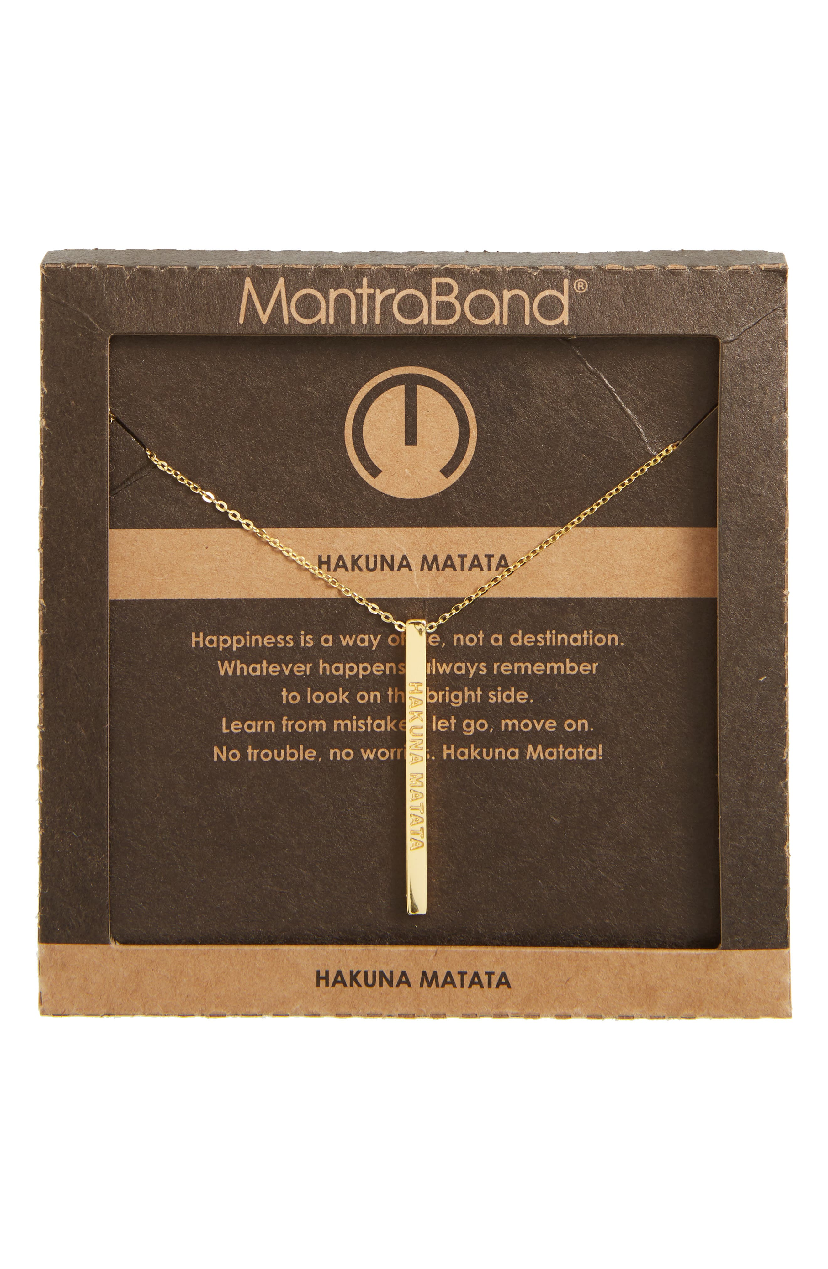 Alternate Image 3  - MantraBand® Hakuna Matata Pendant Necklace