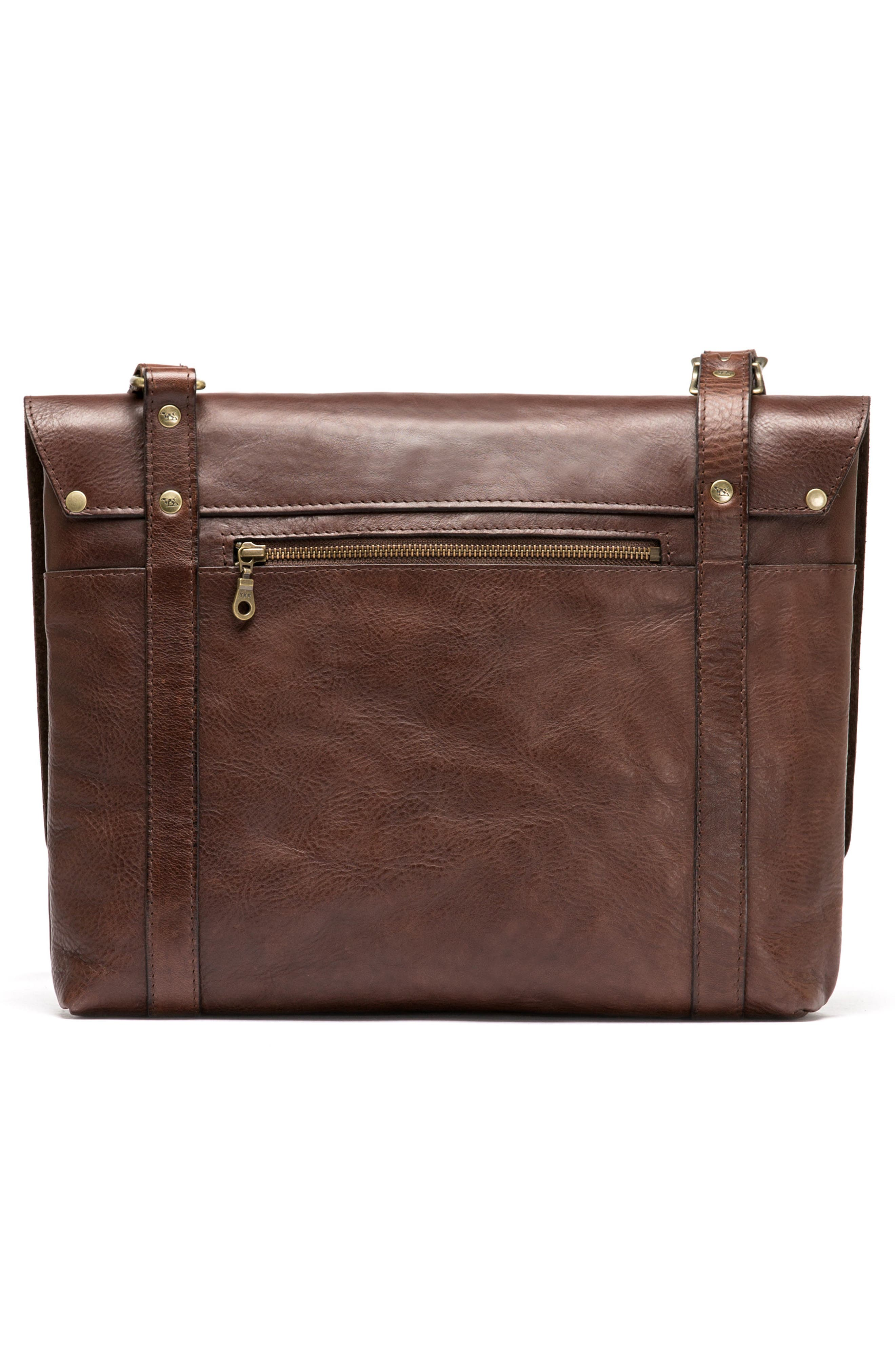 Woodstock Leather Satchel,                             Alternate thumbnail 2, color,                             Cocoa