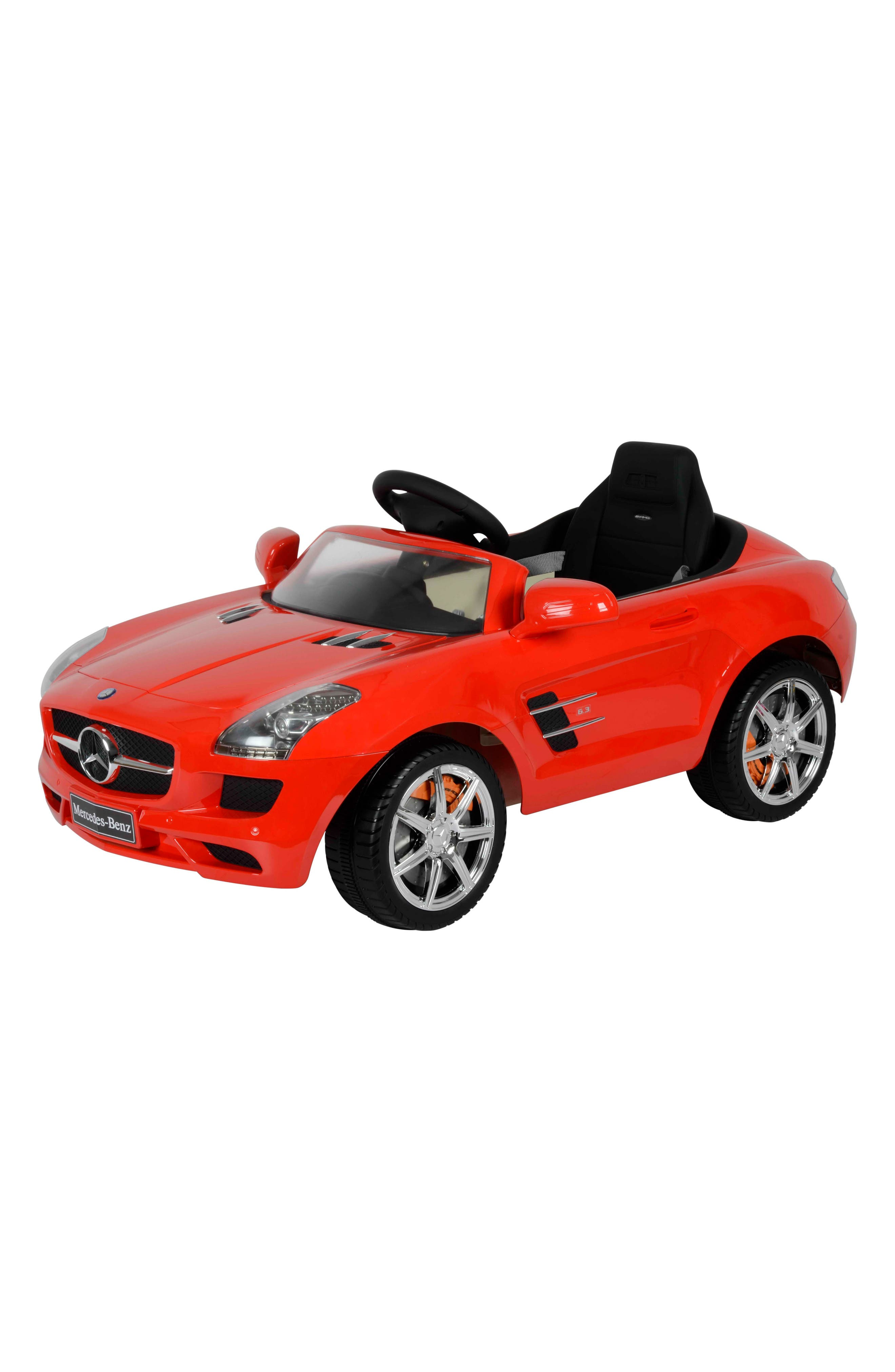 Mercedes SLS Ride-On Car,                         Main,                         color, Red