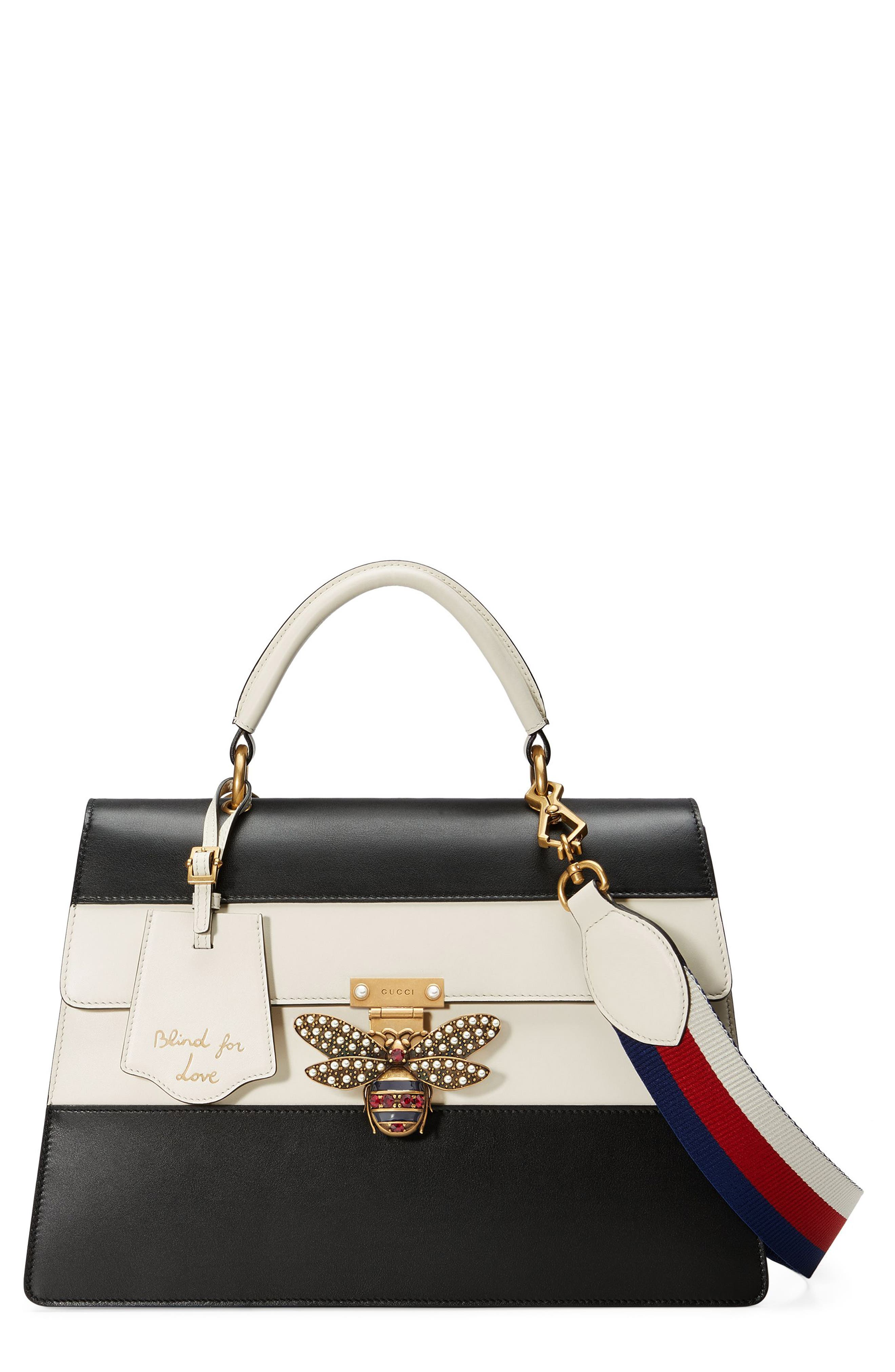 Gucci Queen Margaret Top Handle Leather Satchel