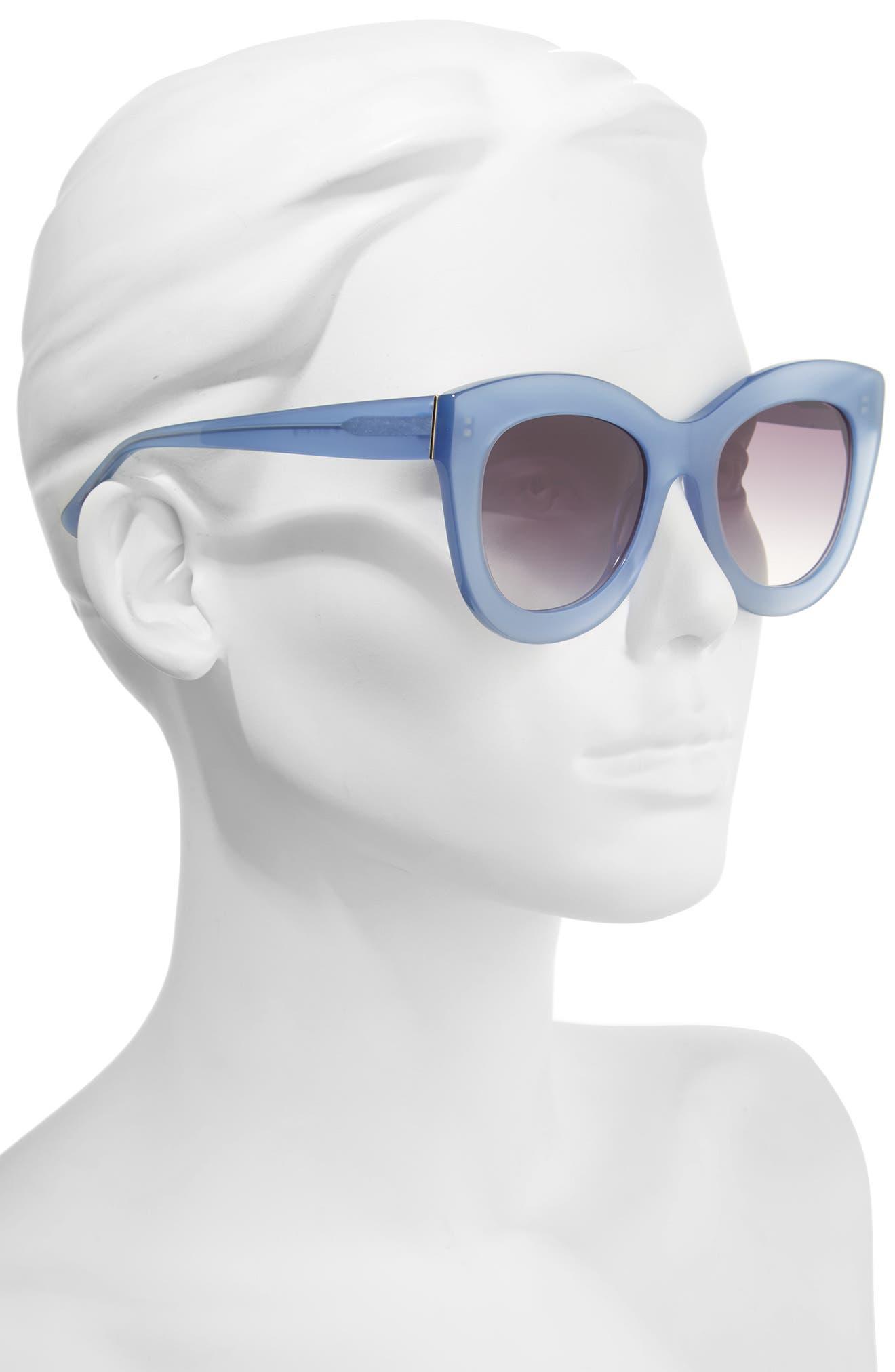 Alternate Image 3  - Alice + Olivia Madison 56mm Cat Eye Sunglasses