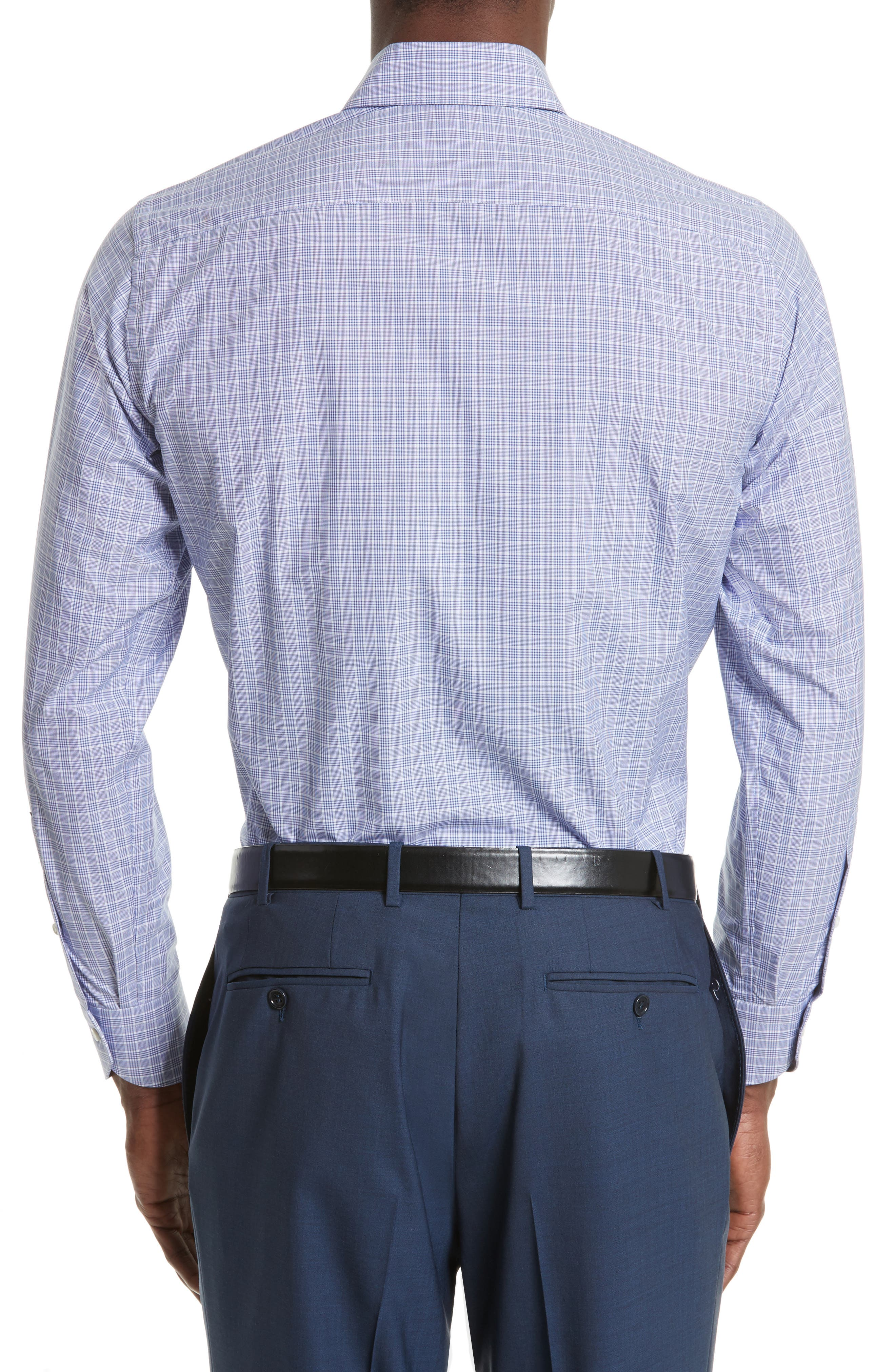 Alternate Image 3  - Canali Regular Fit Plaid Dress Shirt