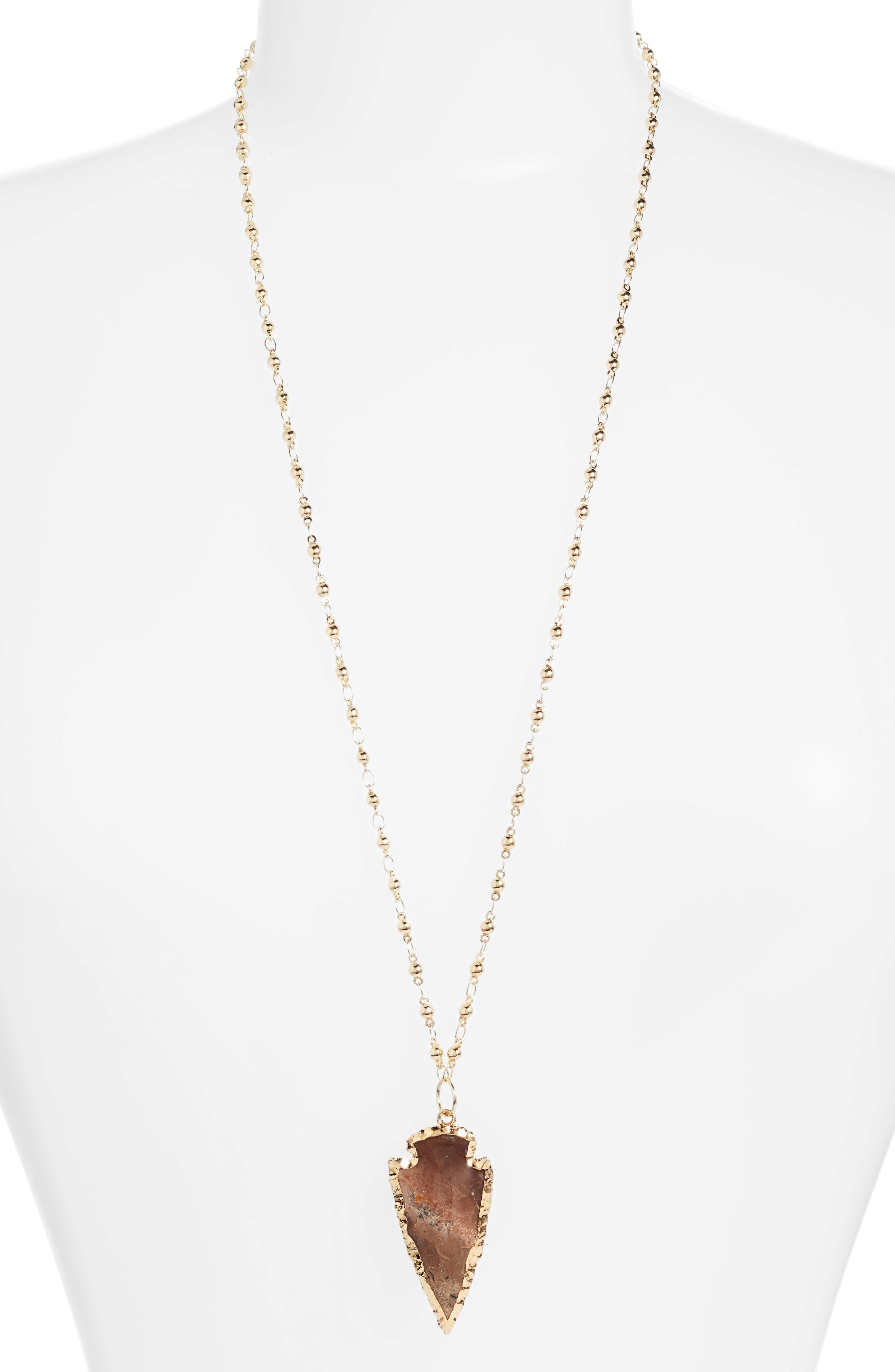 Sahara Arrowhead Necklace,                             Main thumbnail 1, color,                             Speckled