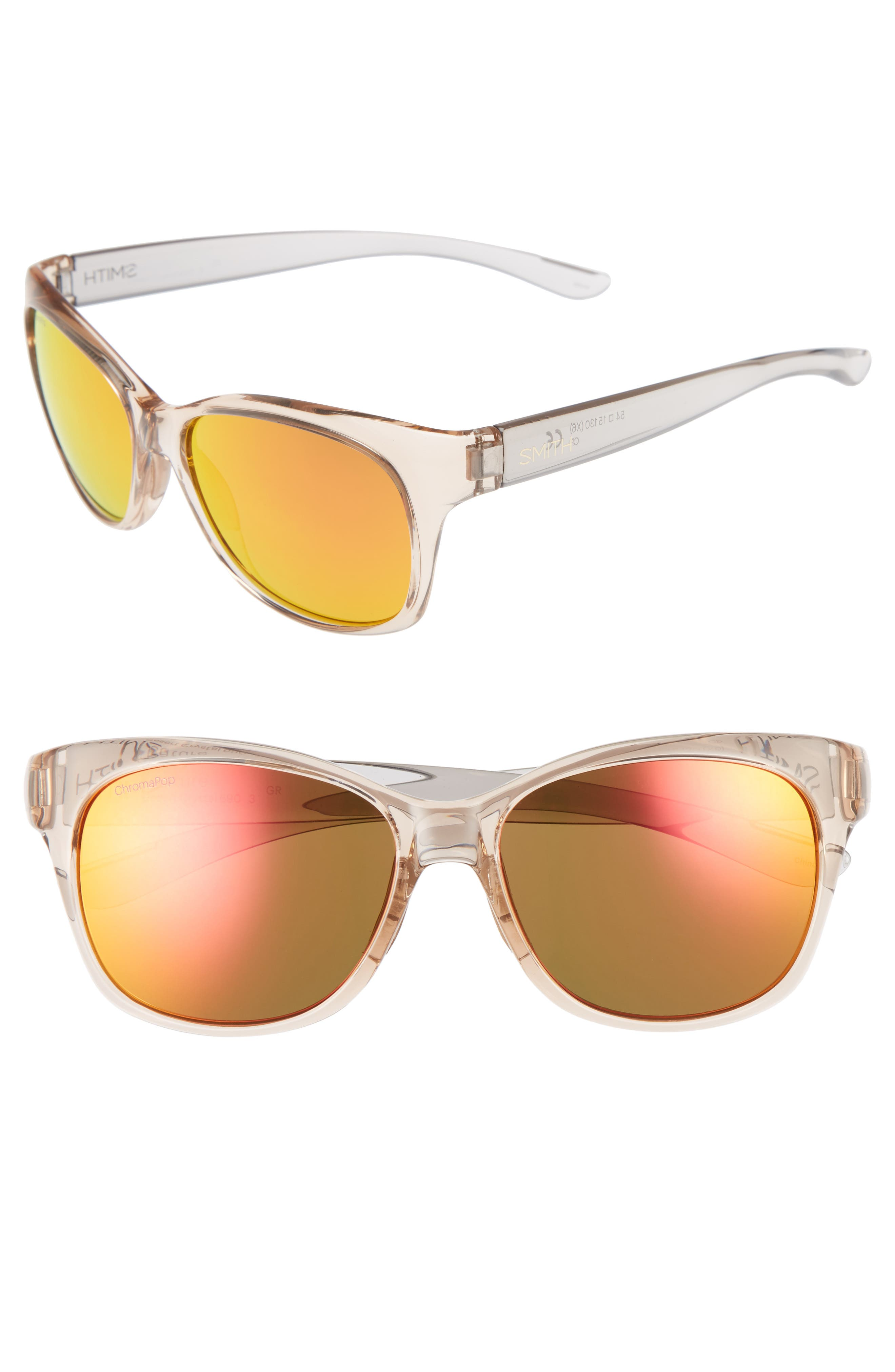 Feature ChromaPop 54mm Polarized Sunglasses,                         Main,                         color, Desert Crystal/ Smoke