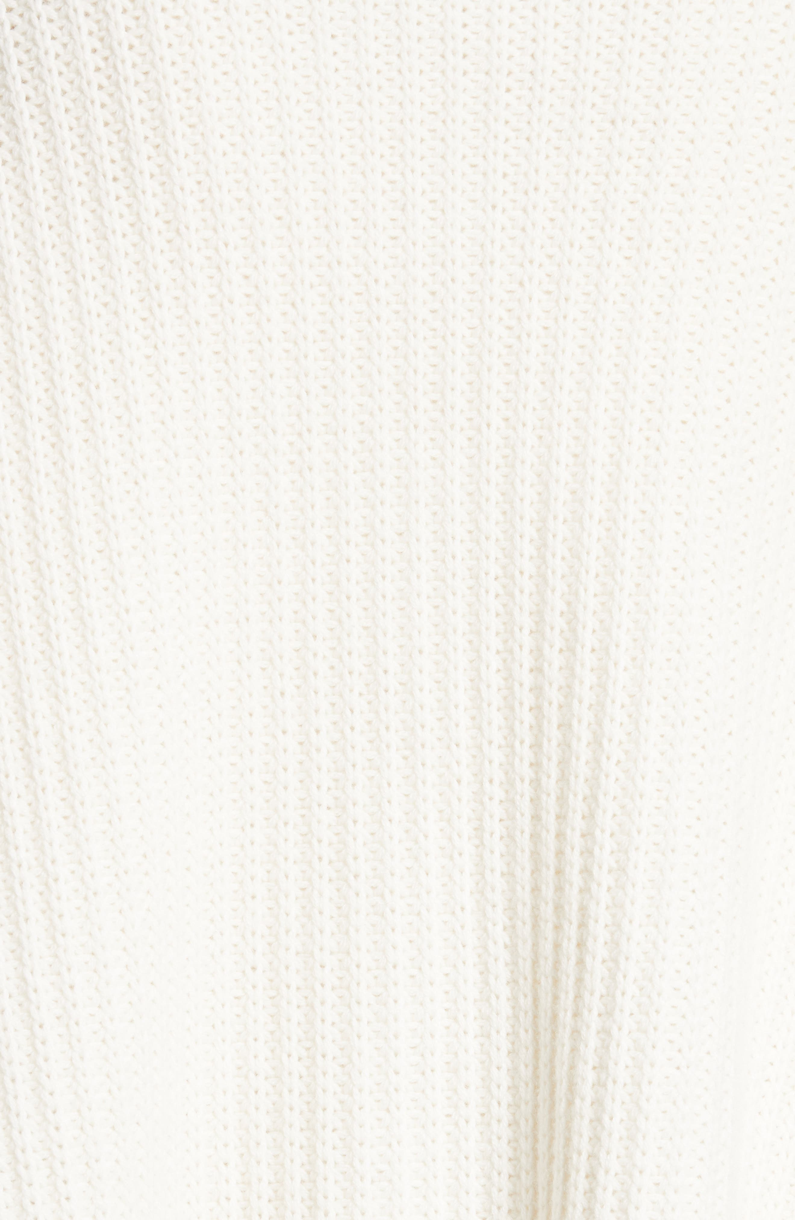 Wool & Cashmere Cardigan,                             Alternate thumbnail 5, color,                             White
