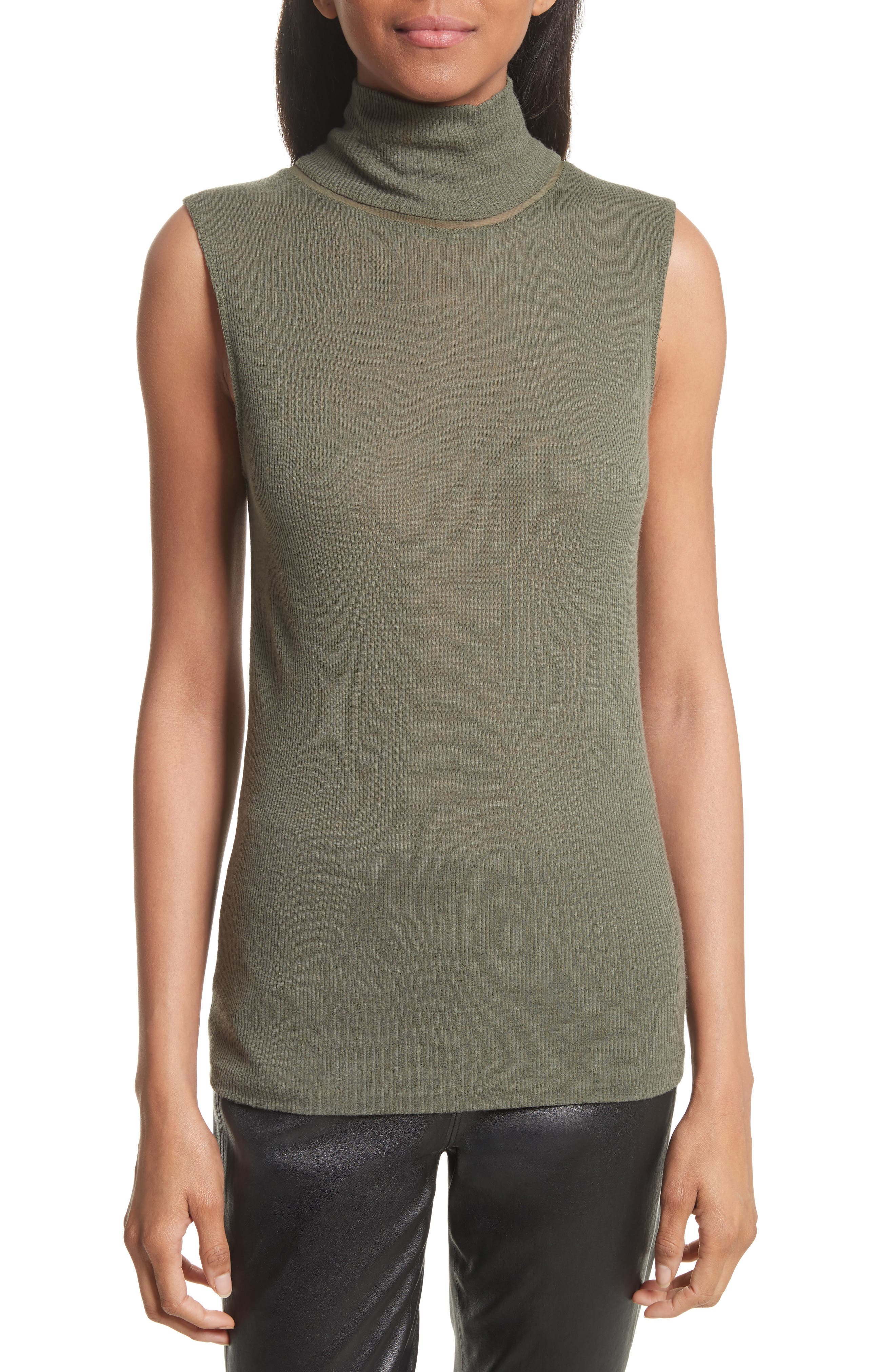Nova Wool Turtleneck,                         Main,                         color, Army