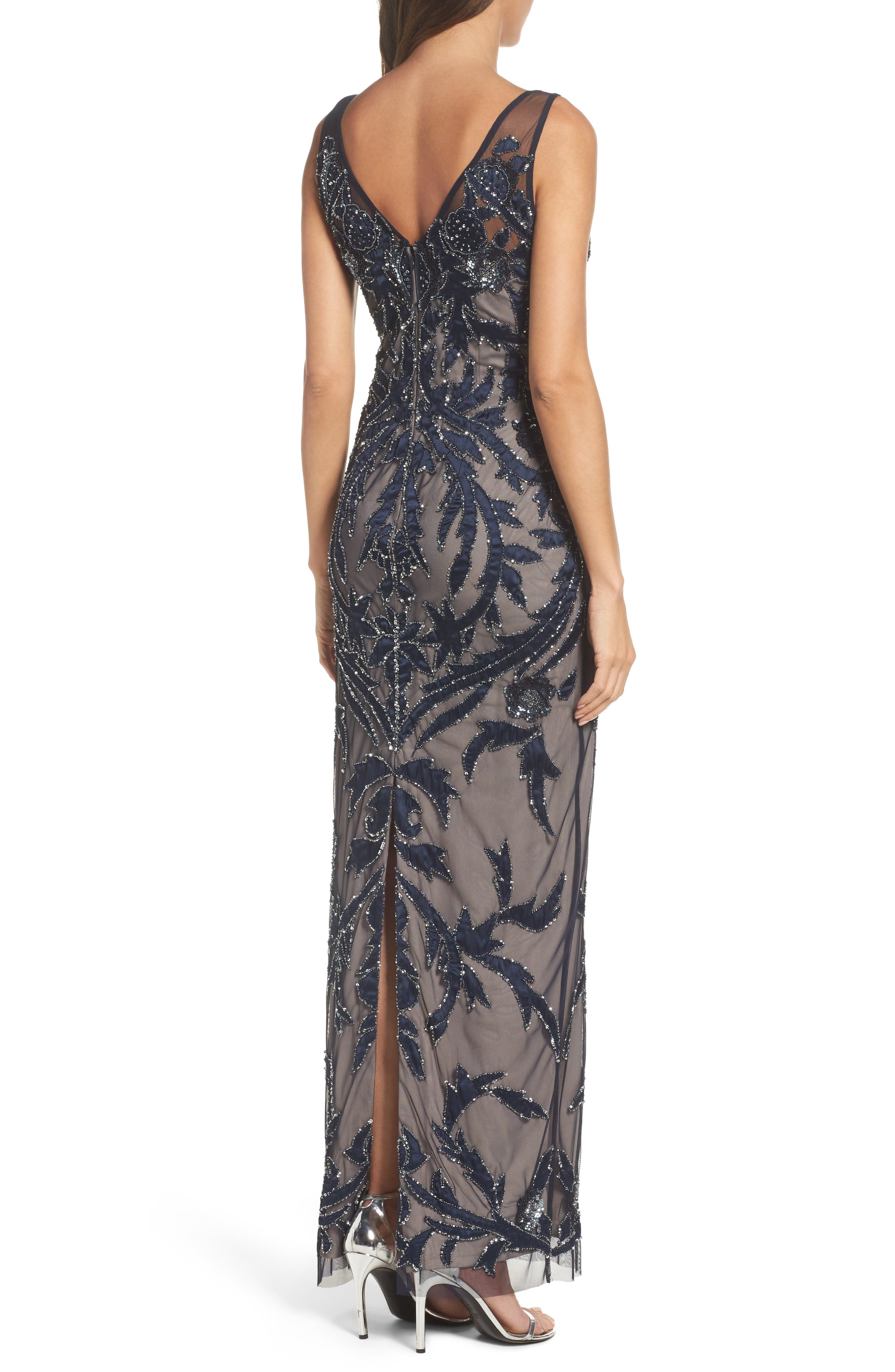 Alternate Image 2  - Adrianna Papell Embellished Column Gown