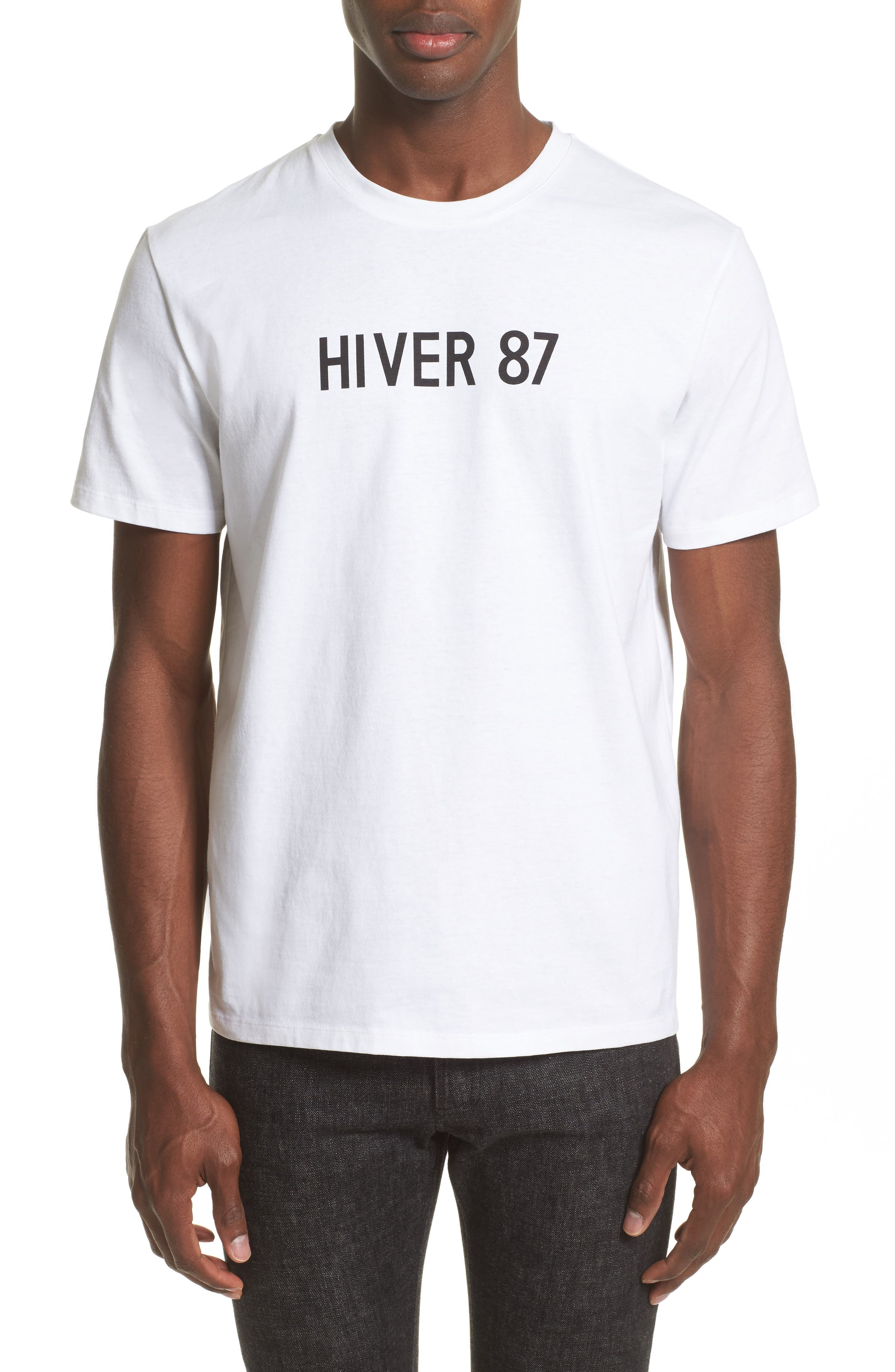 Hiver 87 T-Shirt,                             Main thumbnail 1, color,                             Blanc