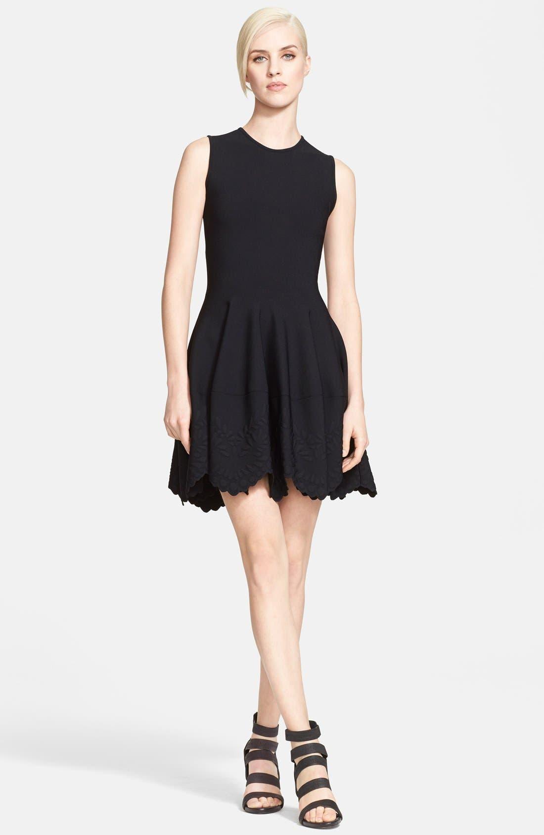 Alternate Image 1 Selected - Alexander McQueen Jacquard Knit Dress