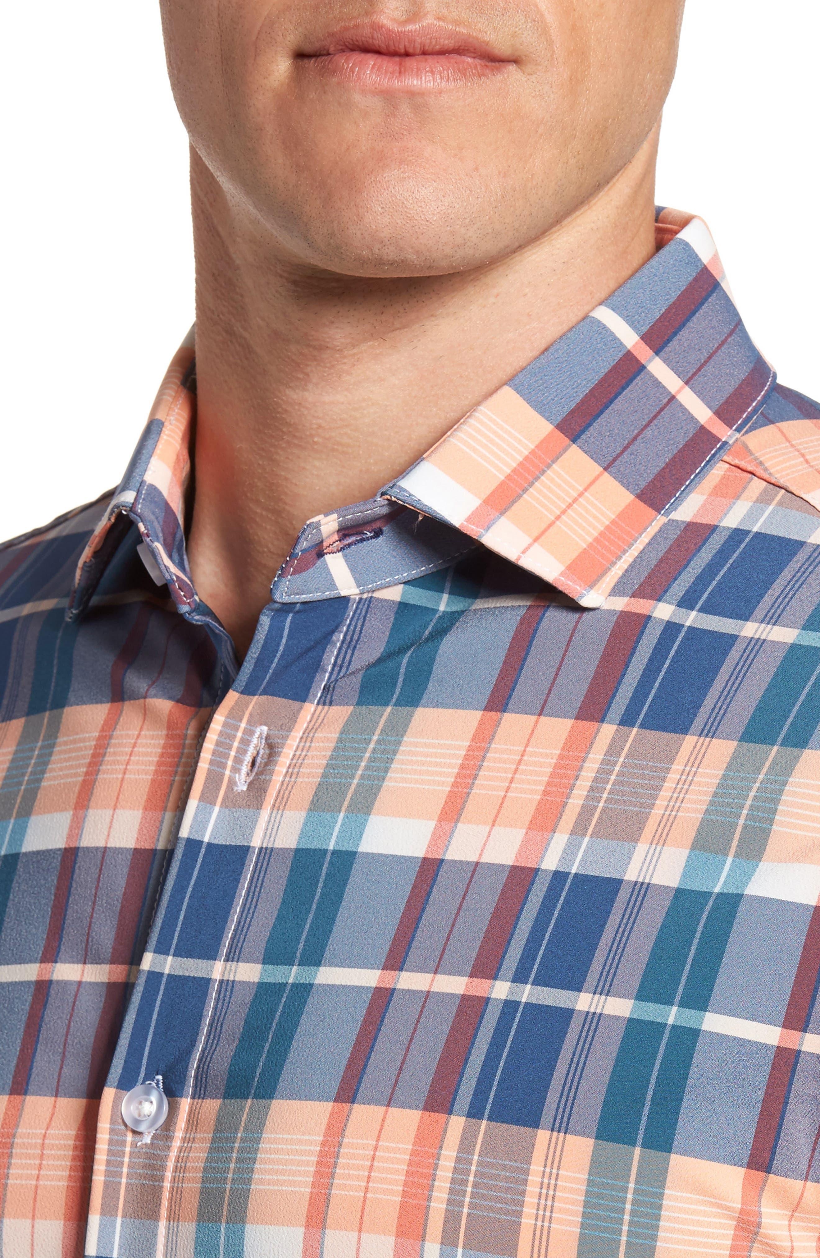 Alternate Image 4  - Mizzen+Main Potomac Madras Performance Sport Shirt (Regular & Tall)