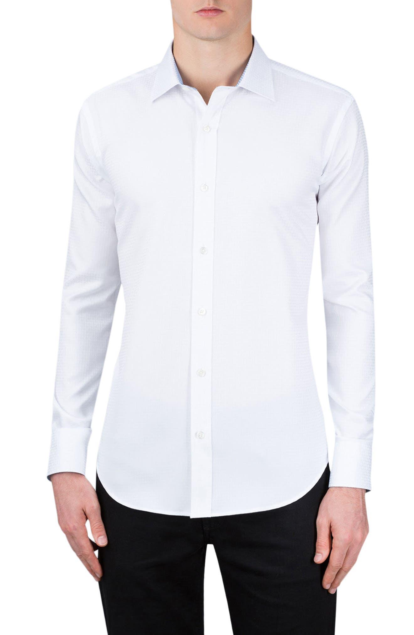 Classic Fit Sport Shirt,                         Main,                         color, White