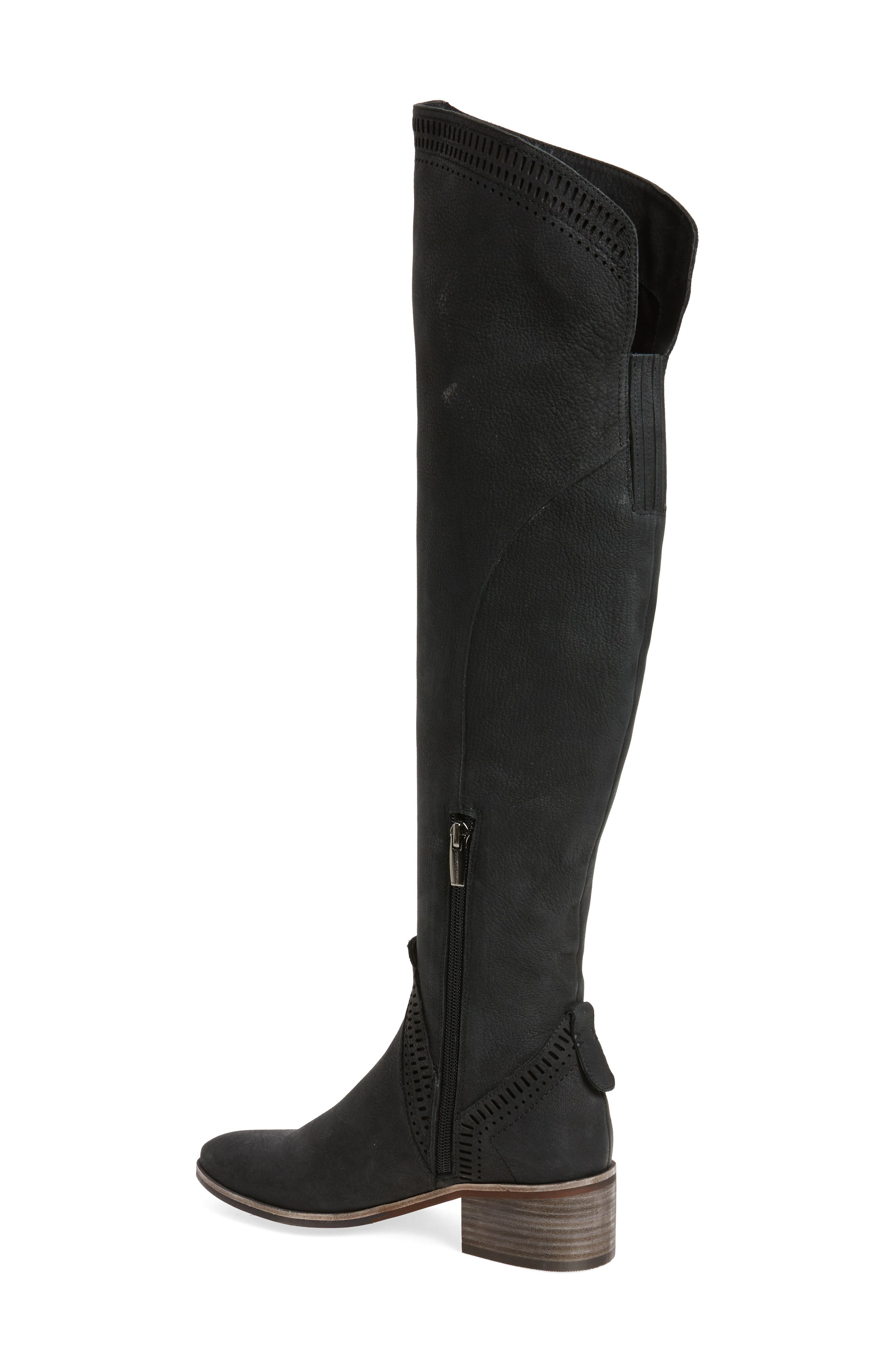 Karinda Over the Knee Boot,                             Alternate thumbnail 2, color,                             Black Leather Wide Calf