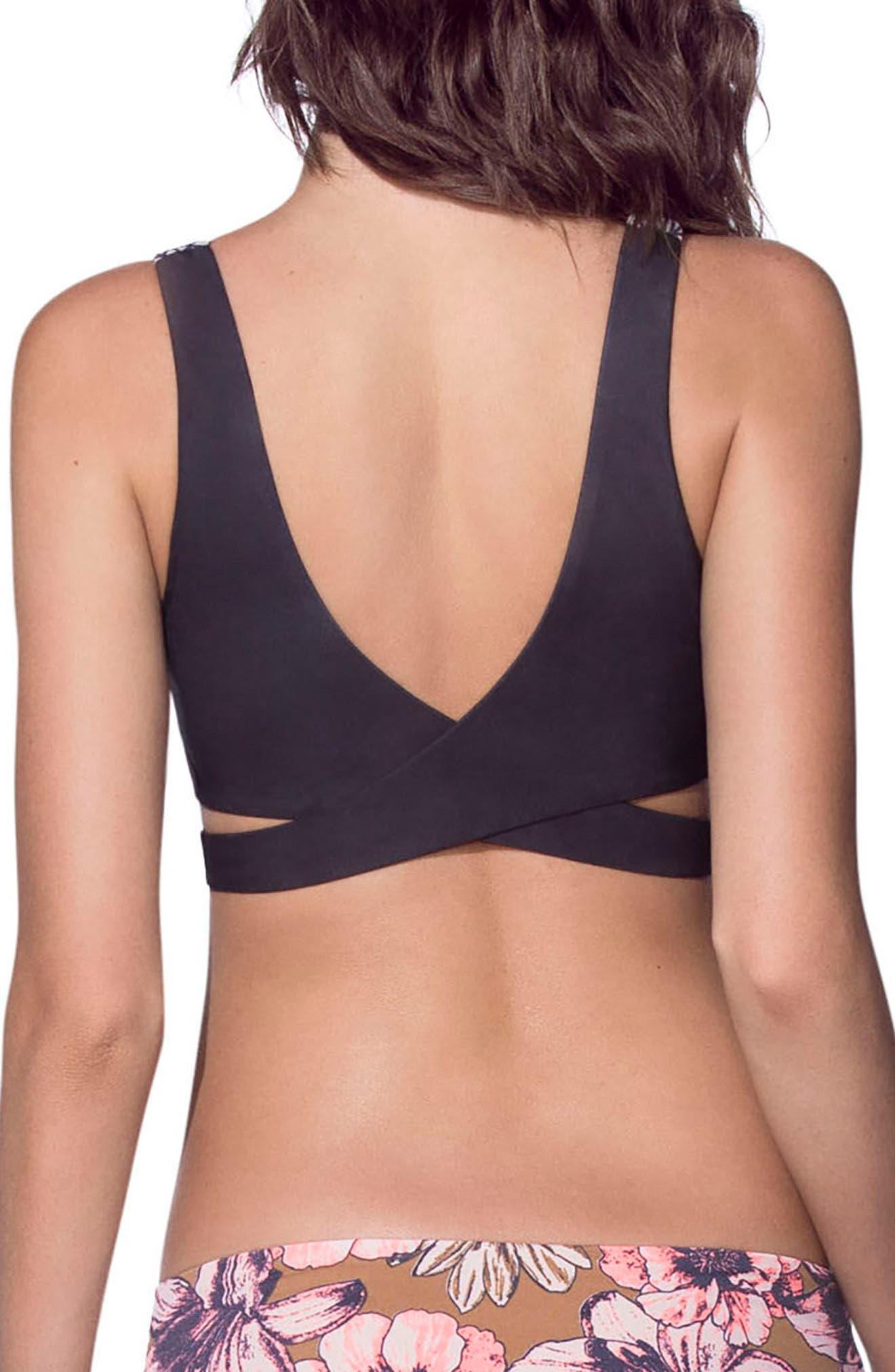 Moviepier Reversible Bikini Top,                             Alternate thumbnail 2, color,                             Coral