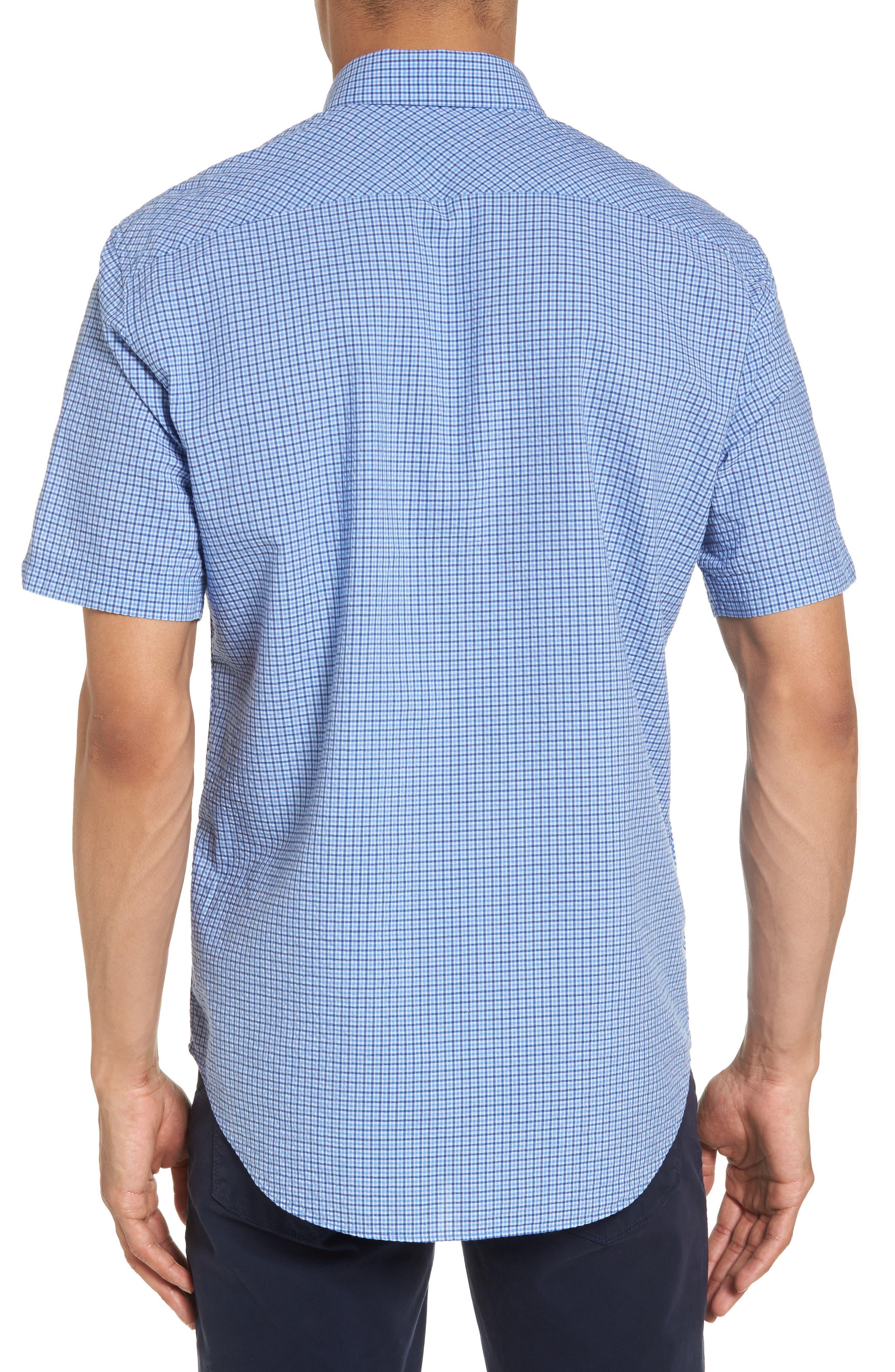 Short Sleeve Sport Shirt,                             Alternate thumbnail 2, color,                             Teal