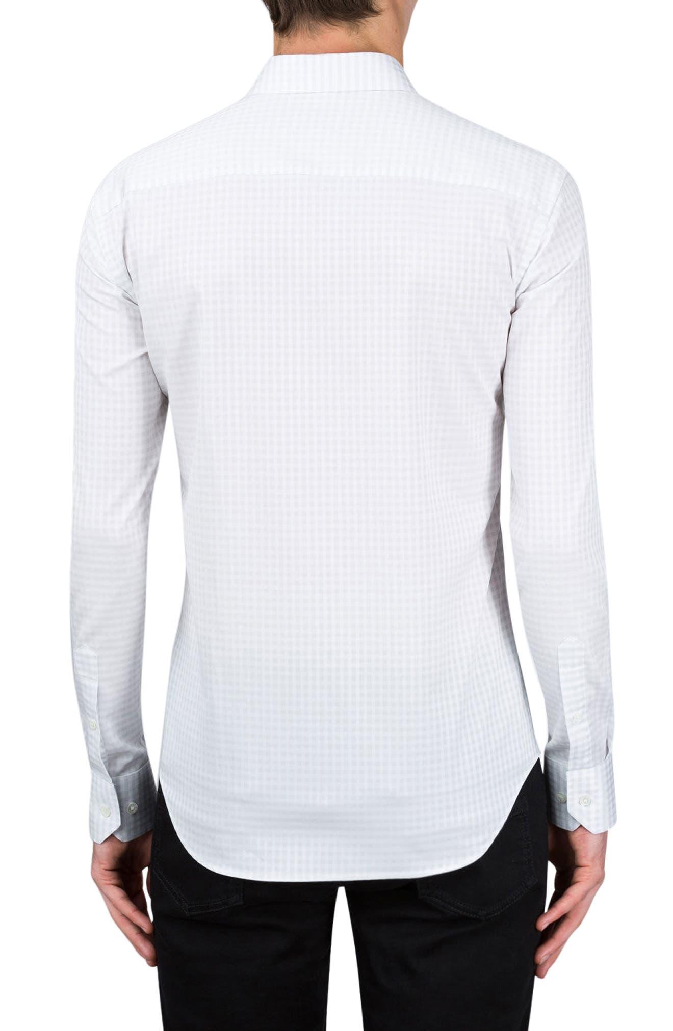 Classic Fit Check Sport Shirt,                             Alternate thumbnail 2, color,                             White