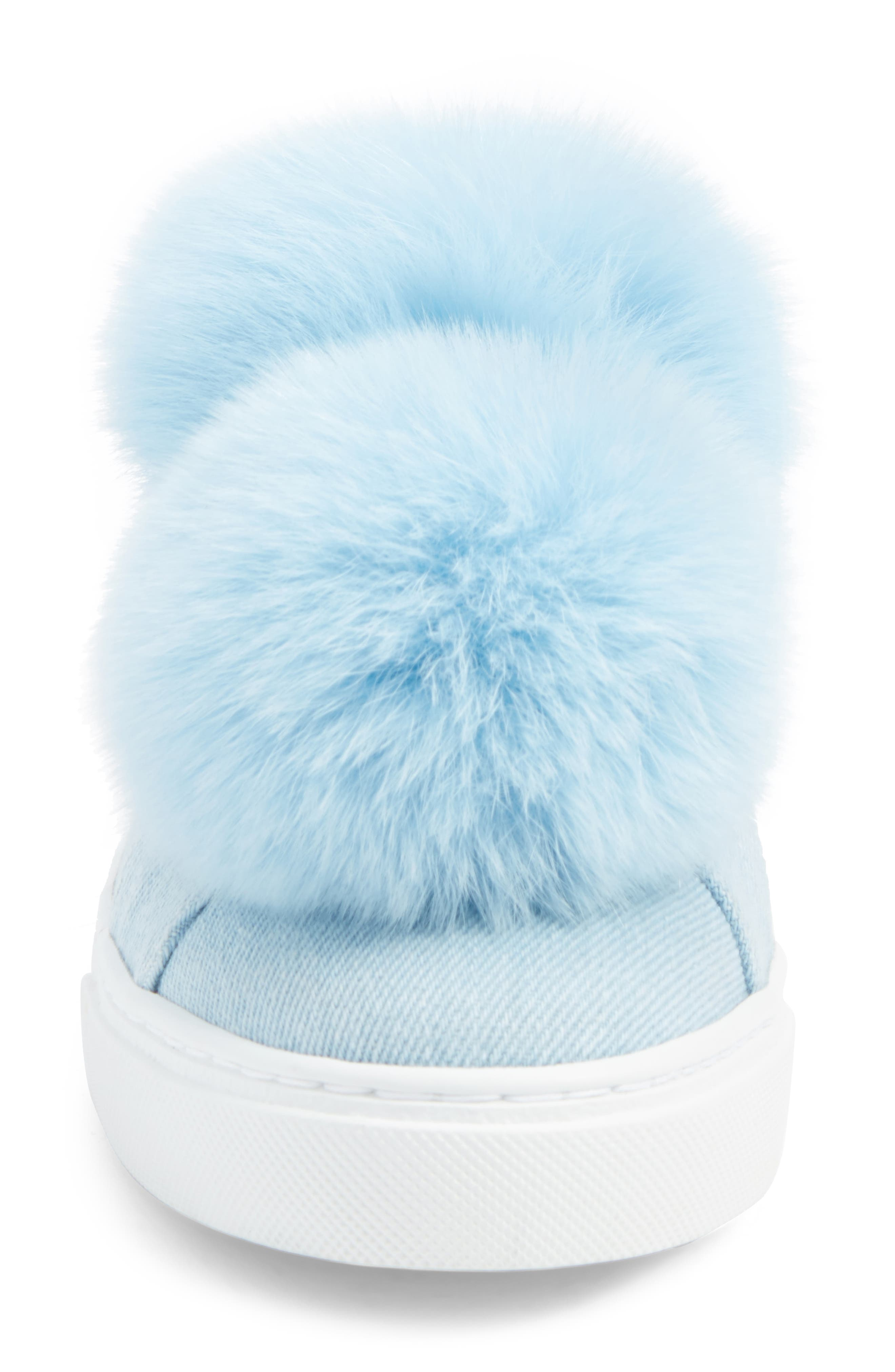 Alternate Image 4  - Here / Now Stella Genuine Fox Fur Trim Platform Sneaker (Women)