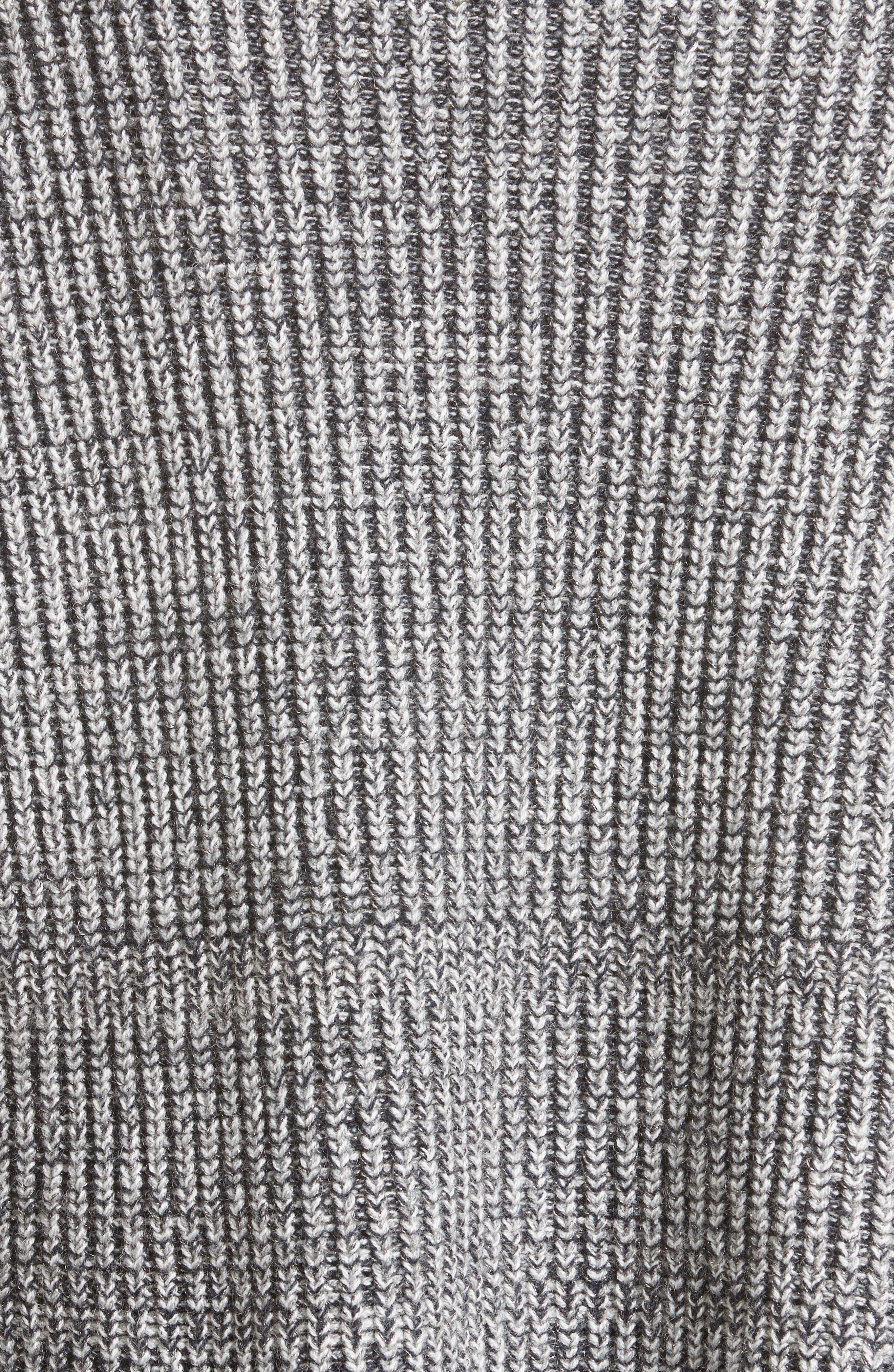 Herringbone Stitch Wool Blend Sweater,                             Alternate thumbnail 3, color,                             Grey Multi
